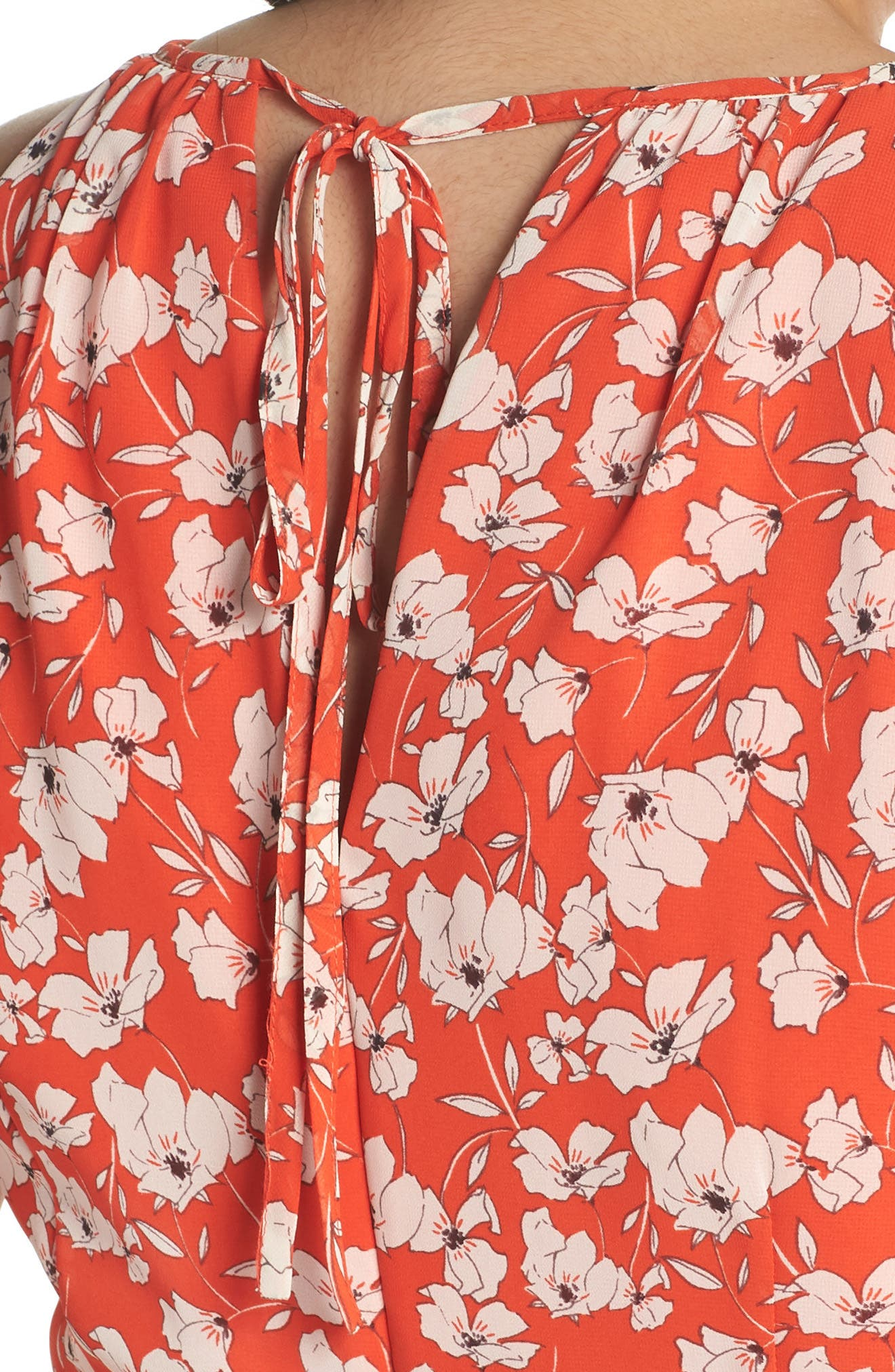 Ruffle Hem Halter Neck Chiffon Dress,                             Alternate thumbnail 4, color,                             600