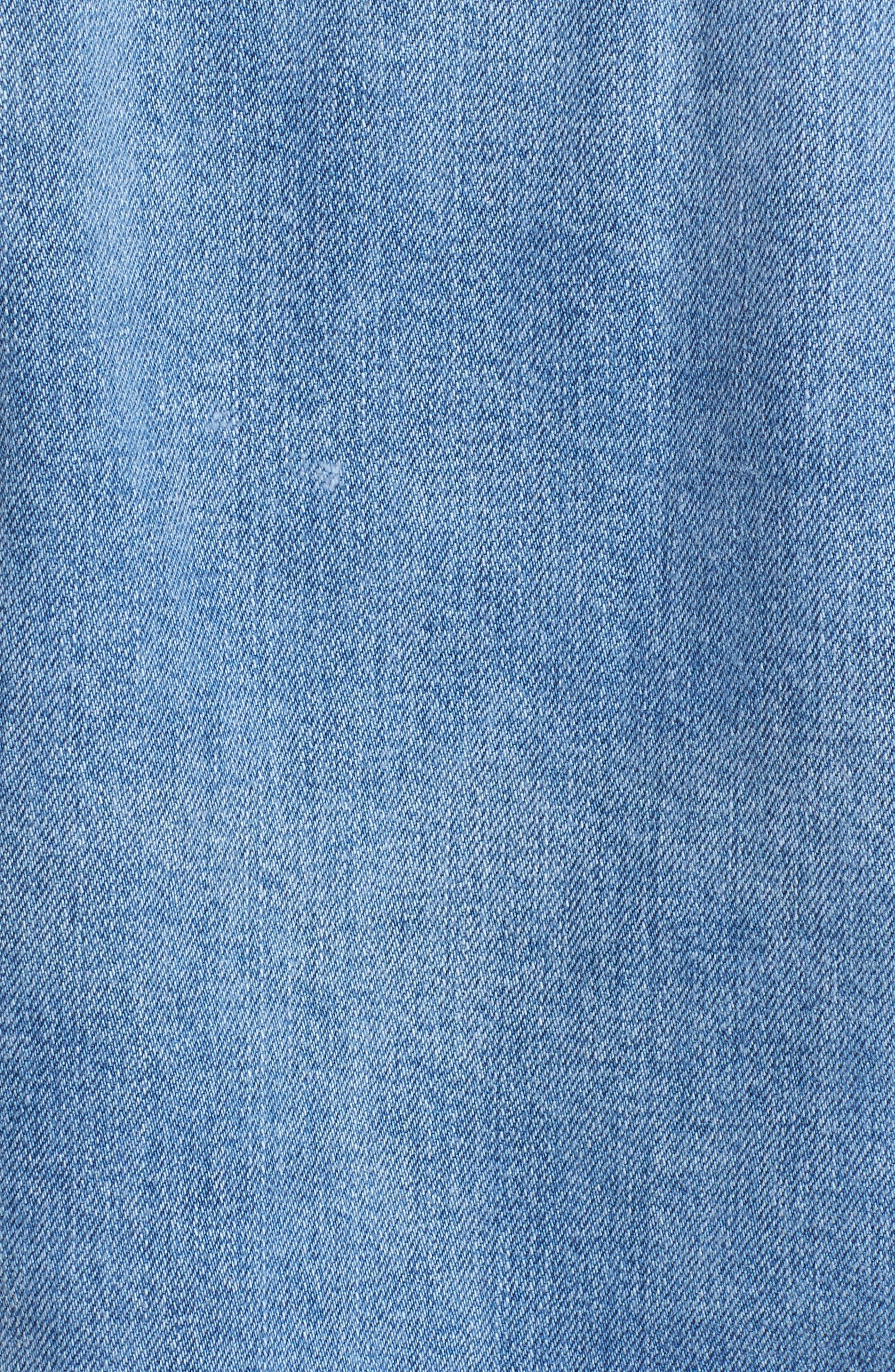 Oversize Crystal Seam Denim Jacket,                             Alternate thumbnail 7, color,                             400