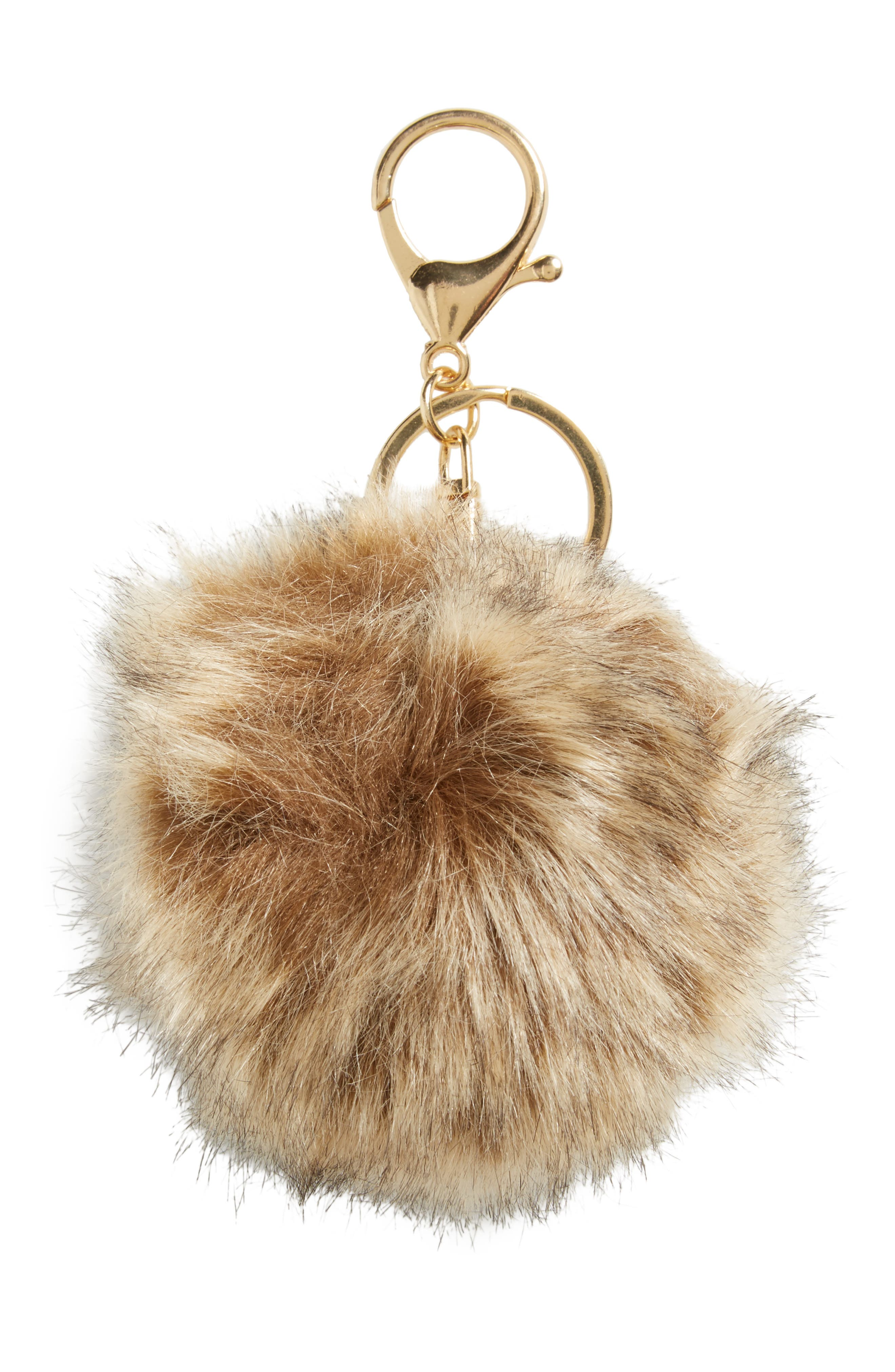 Faux Fur Pom Bag Charm,                             Alternate thumbnail 9, color,