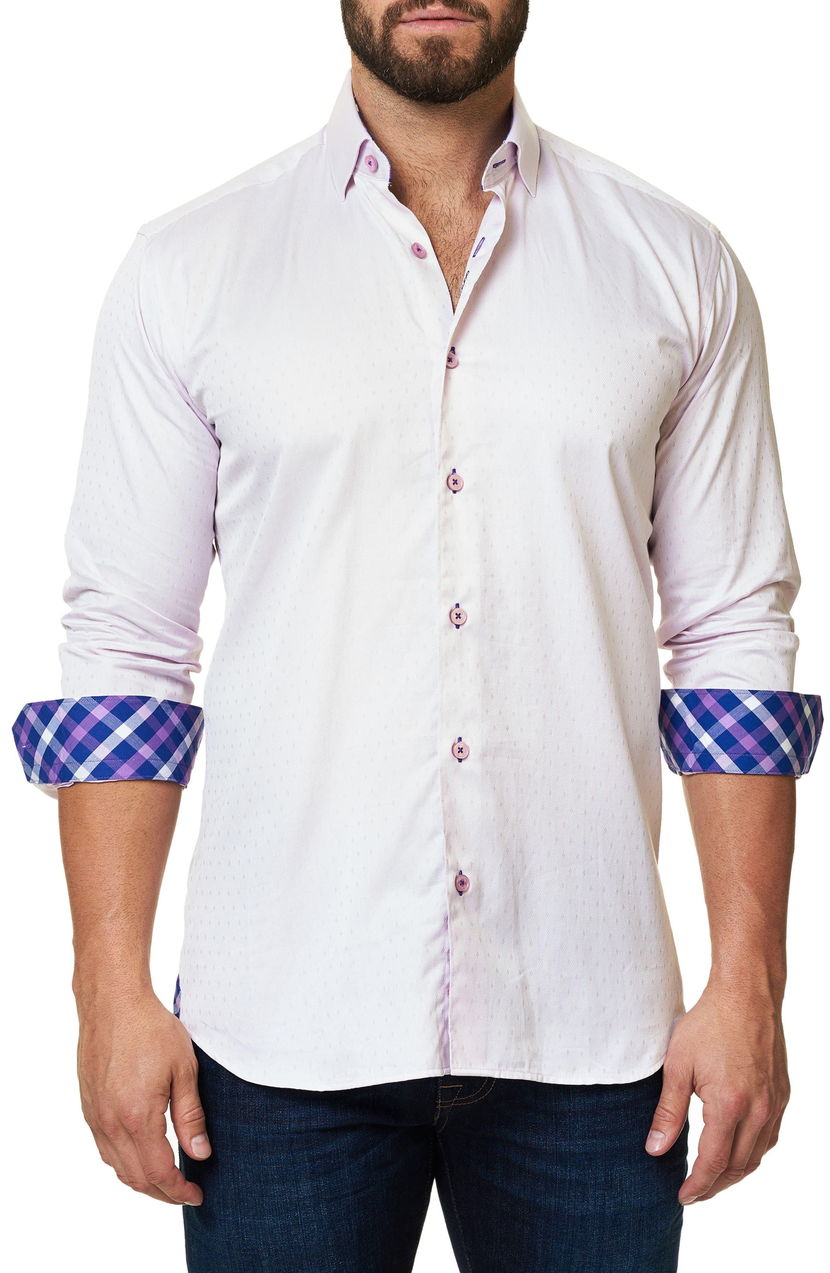 Trim Fit Sport Shirt,                             Alternate thumbnail 3, color,                             660