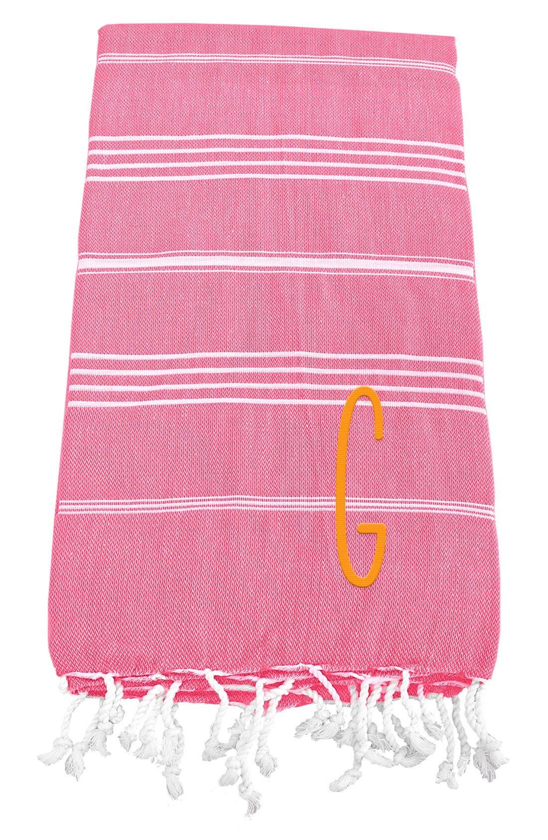 Monogram Turkish Cotton Towel,                             Main thumbnail 143, color,