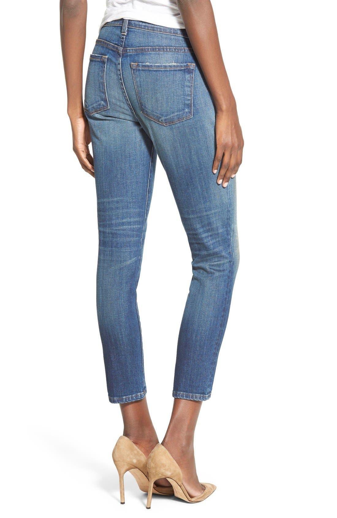 'Sadey' Slim Straight Crop Jeans,                             Alternate thumbnail 8, color,