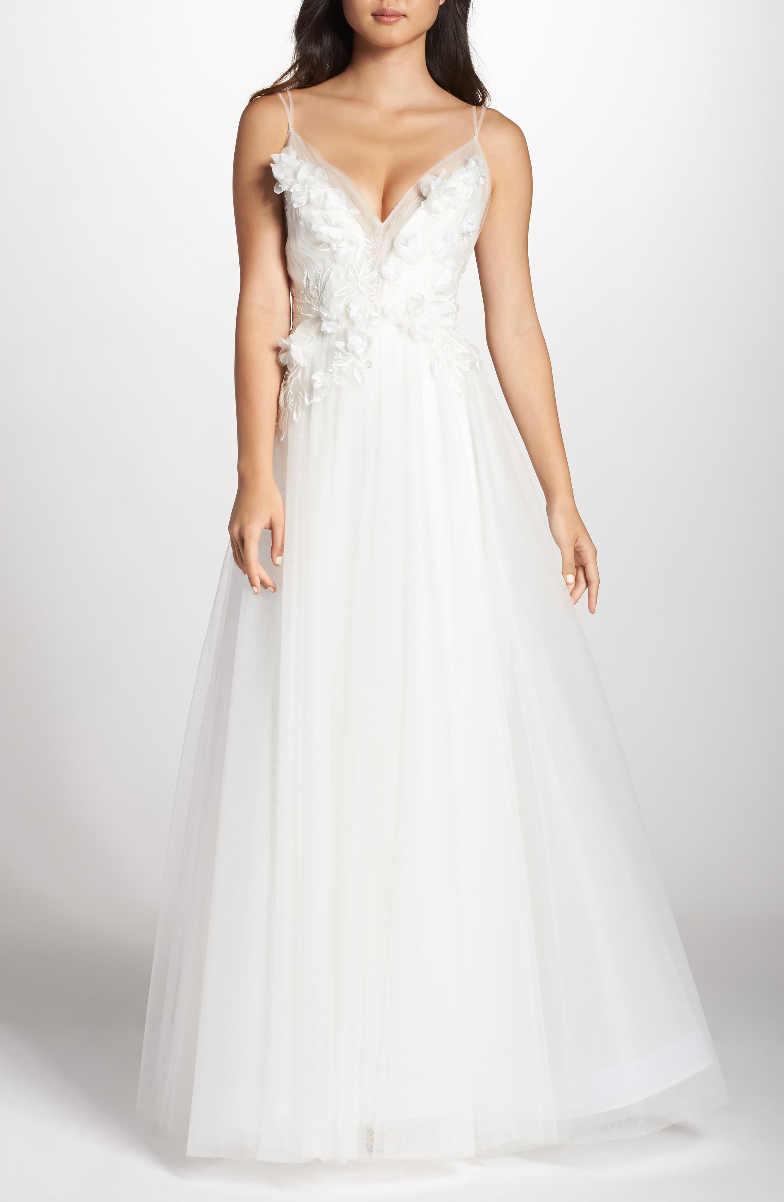 Embellished Tulle Ballgown,                             Main thumbnail 1, color,                             IVORY