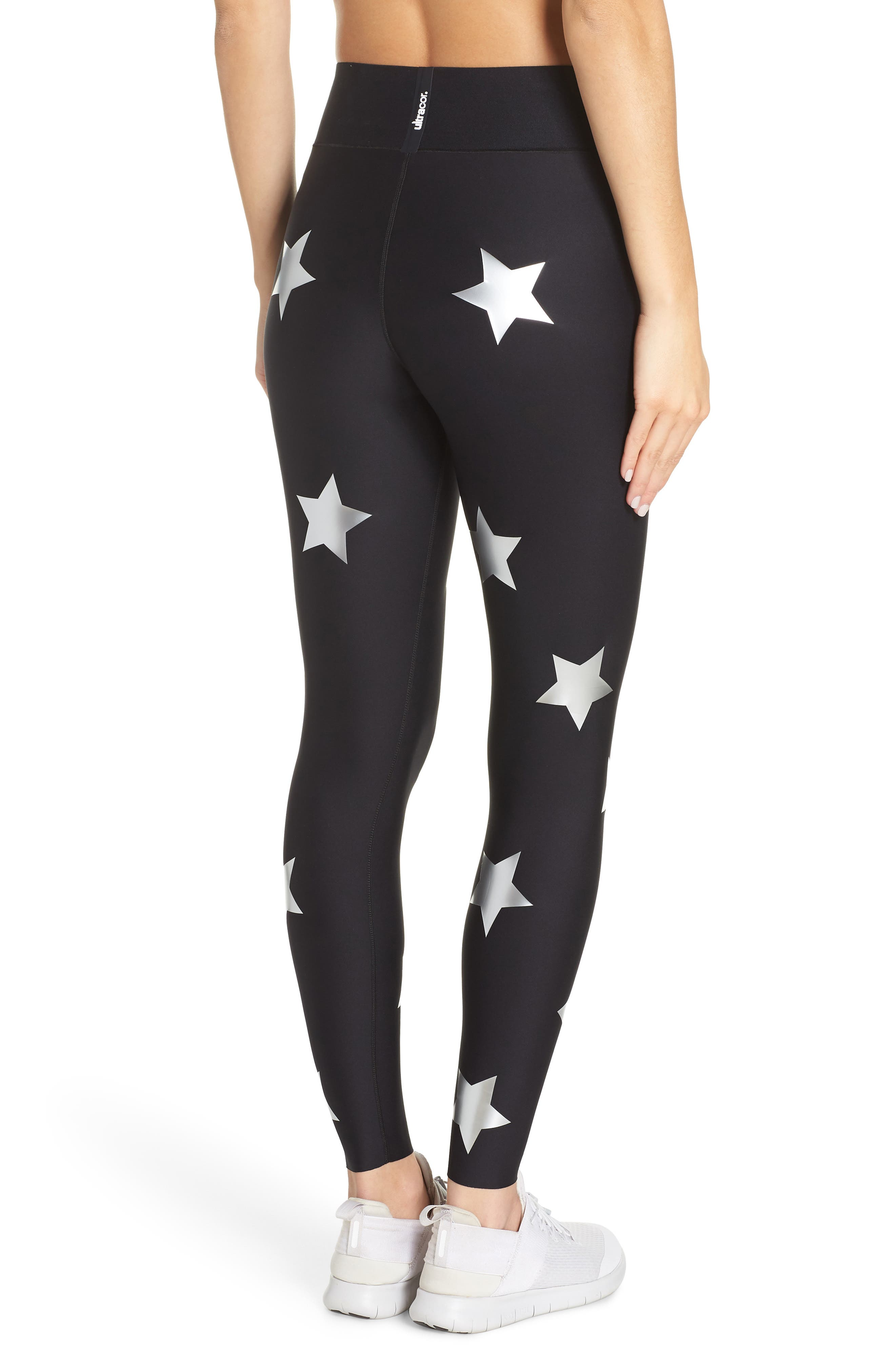 Lux Knockout Leggings,                             Alternate thumbnail 2, color,                             NERO SILVER