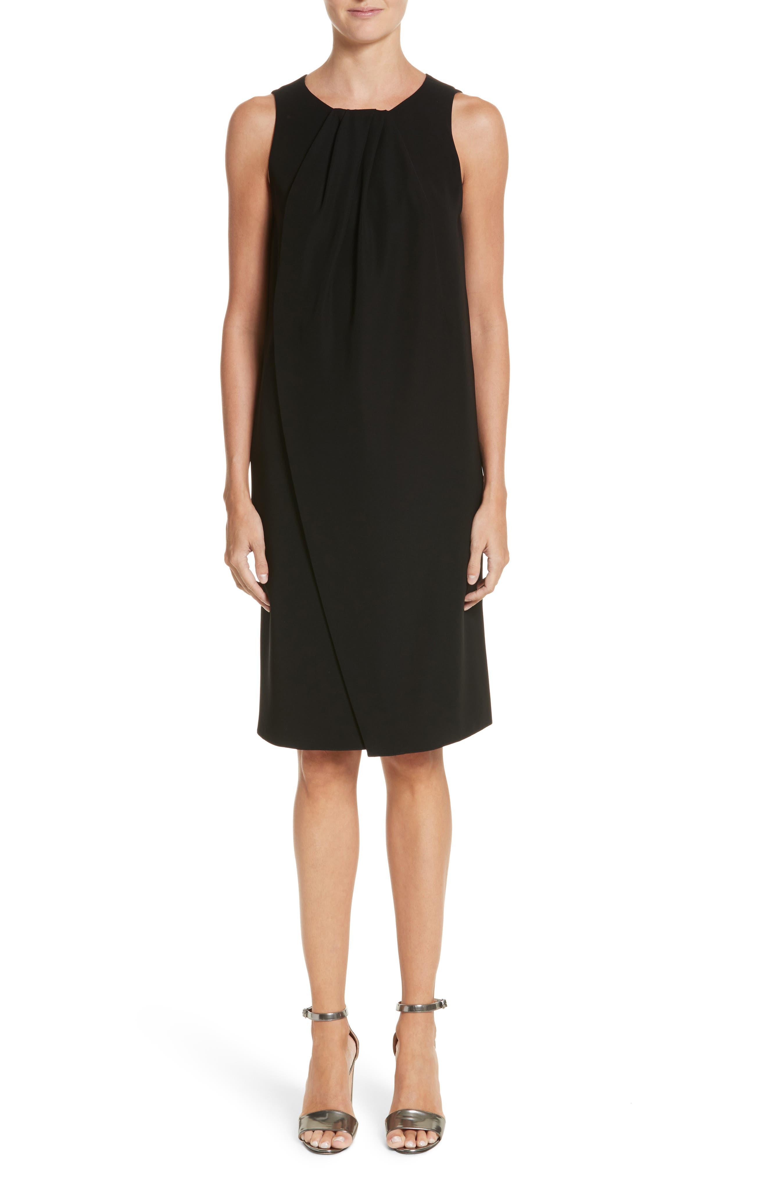 Draped Cady Shift Dress,                         Main,                         color, 004