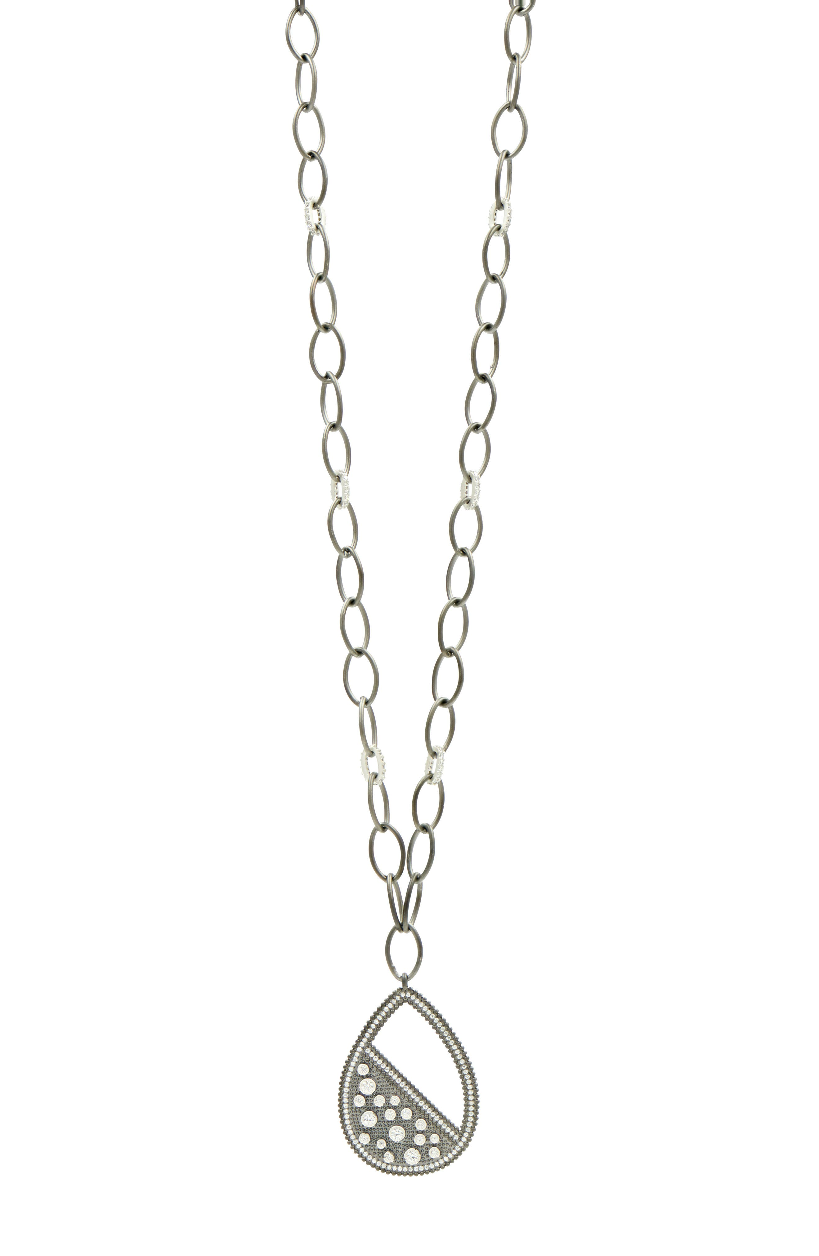 Industrial Finish Teardrop Necklace,                             Main thumbnail 1, color,                             040