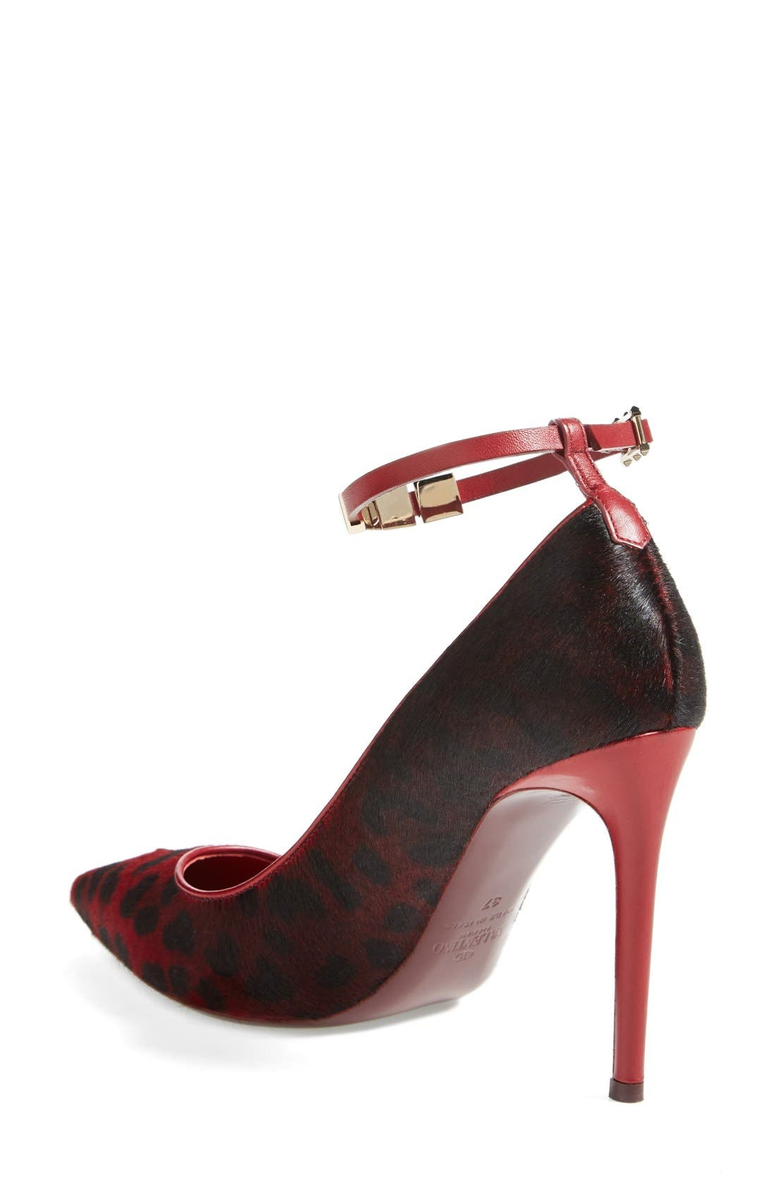 'Rouge Absolute' Ankle Strap Pump,                             Alternate thumbnail 4, color,                             600