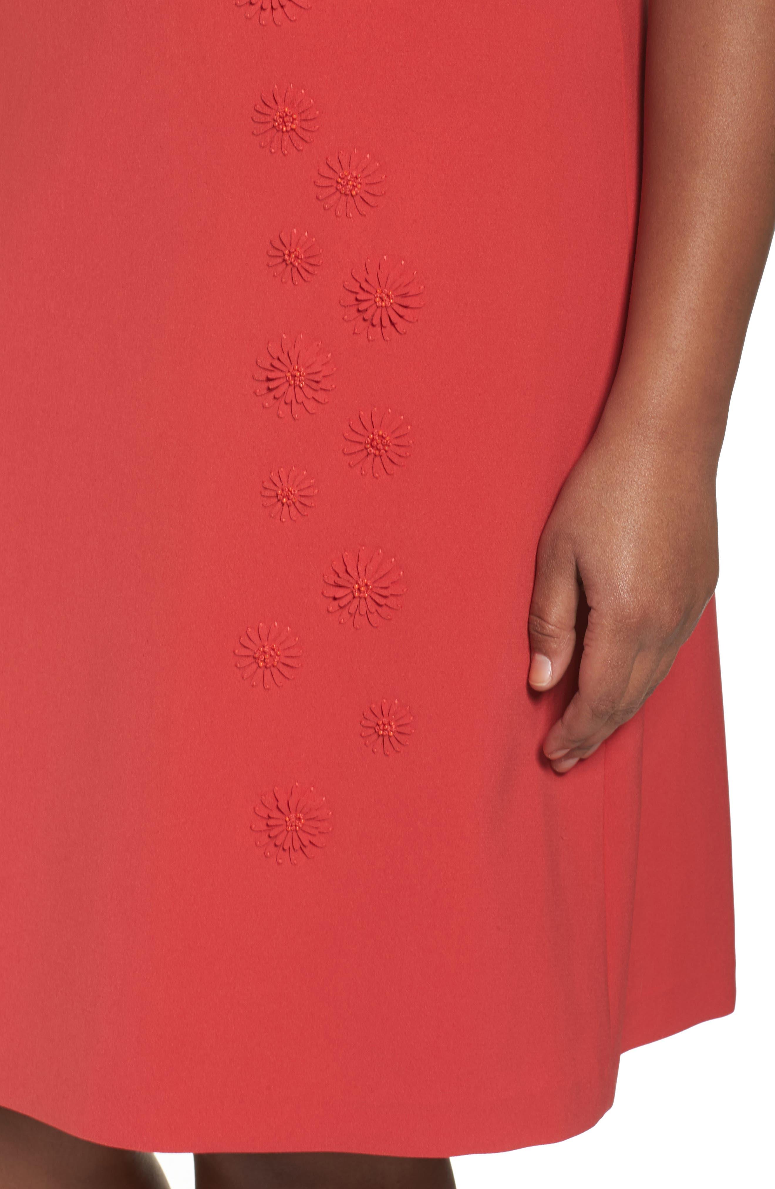 Cheyenne Floral Embellished A-Line Dress,                             Alternate thumbnail 4, color,                             604