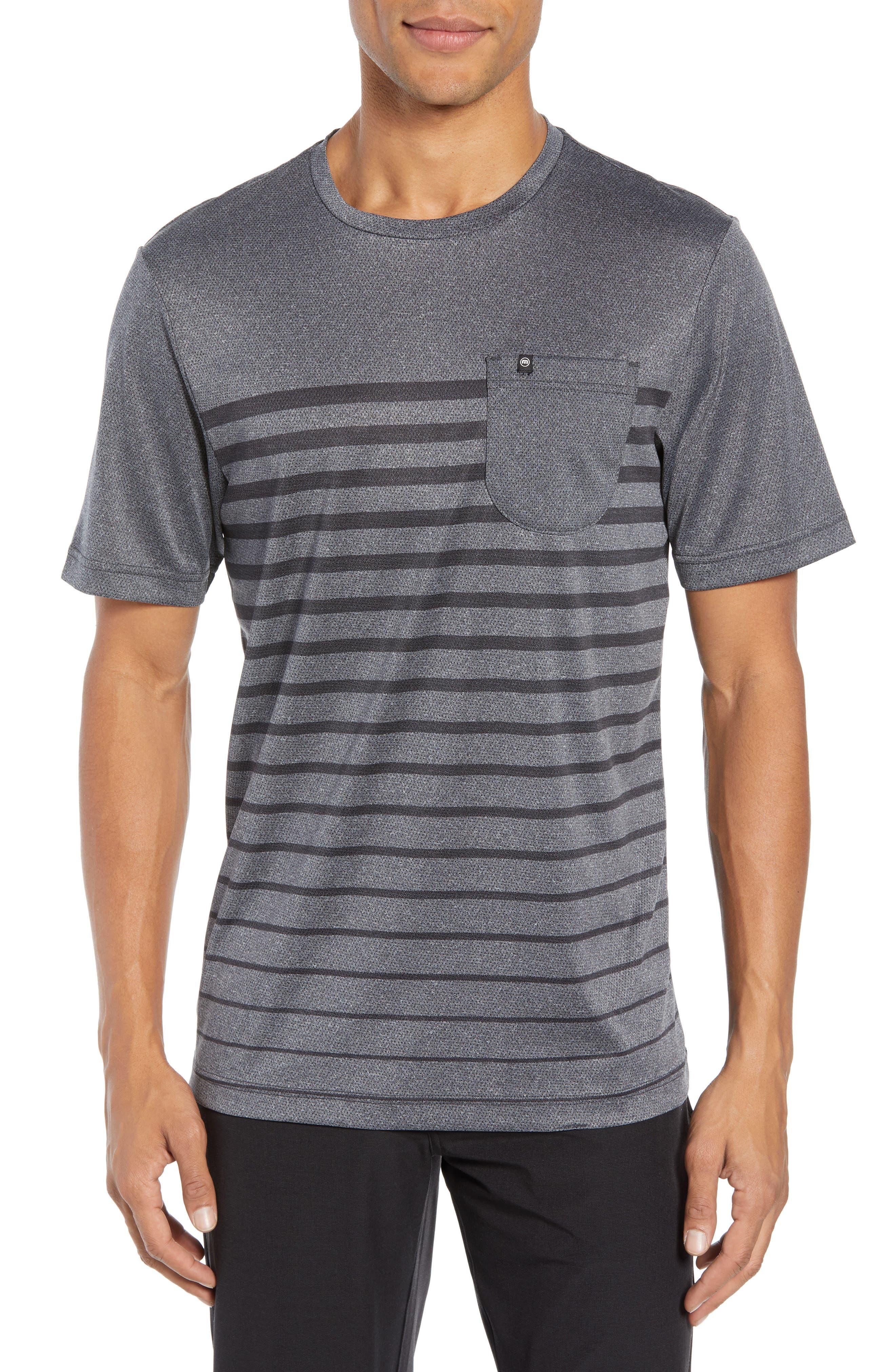 Cutoff Pocket T-Shirt,                             Main thumbnail 1, color,                             HEATHER MAGNET
