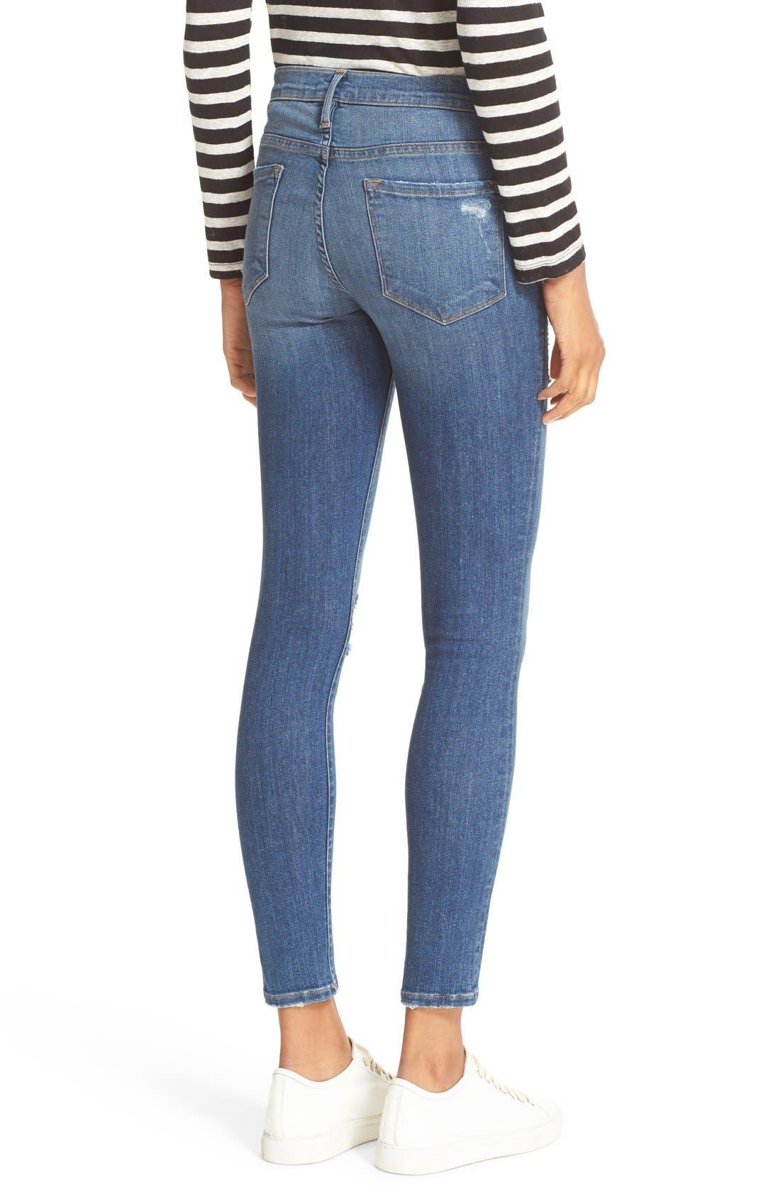 'Le Skinny de Jeanne' Jeans,                             Alternate thumbnail 7, color,                             HILLTOP