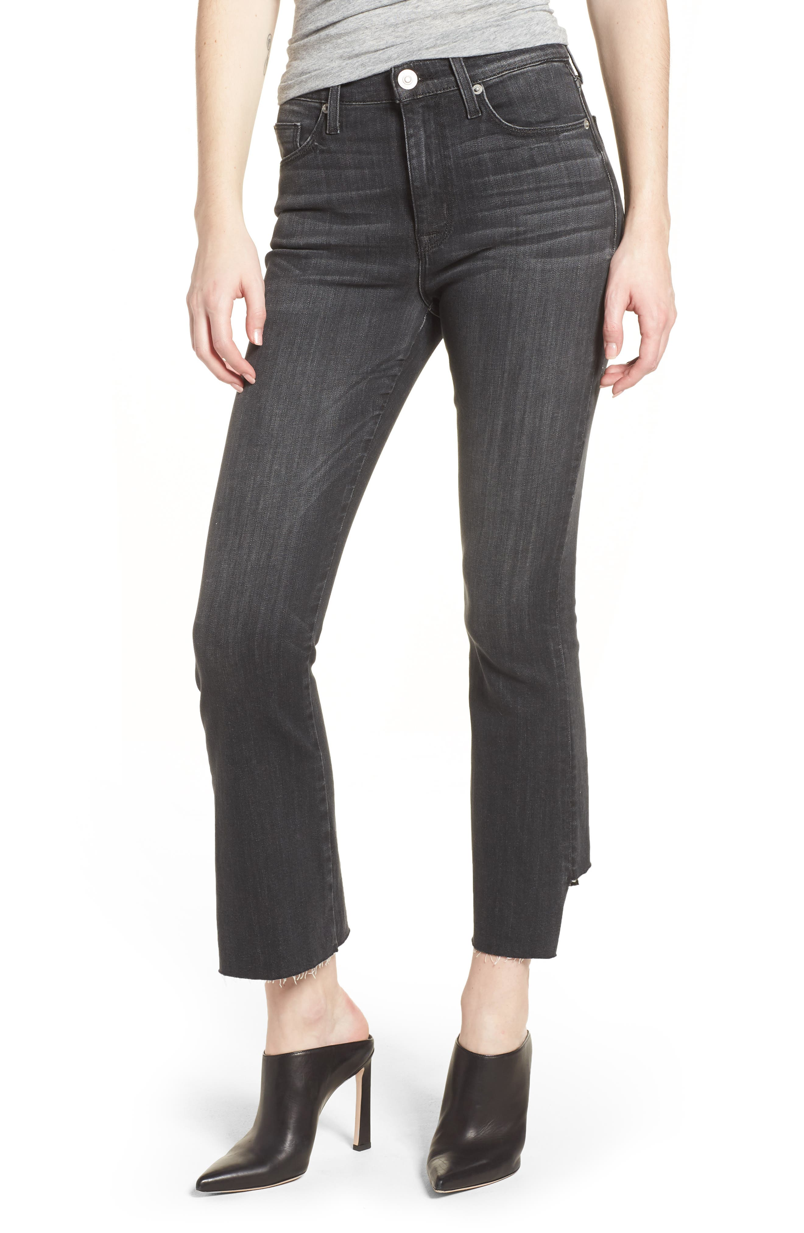 Holly High Waist Crop Flare Jeans,                             Main thumbnail 1, color,                             REAL WORLD