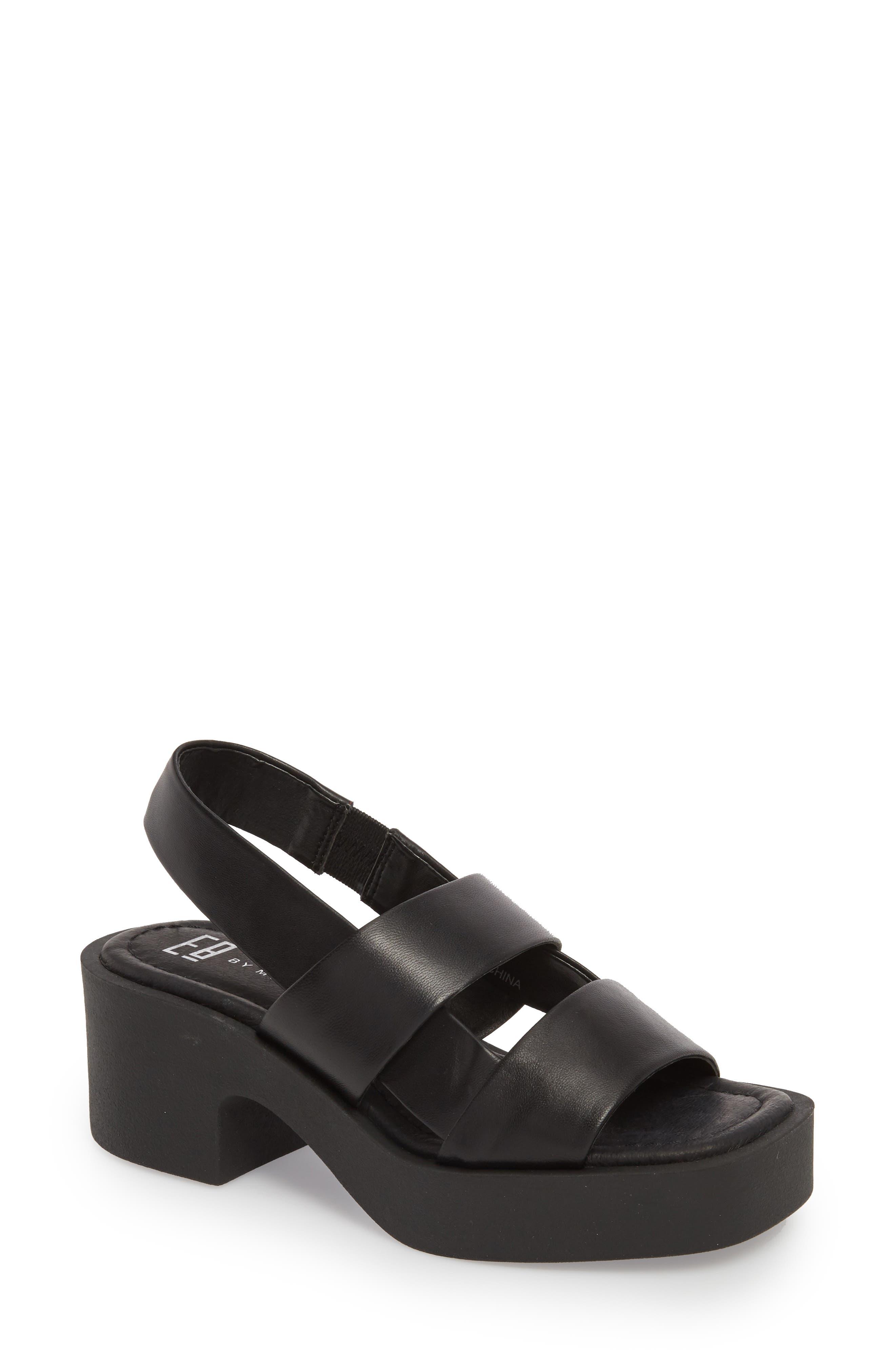 Hazel Slingback Sandal,                         Main,                         color, BLACK LEATHER