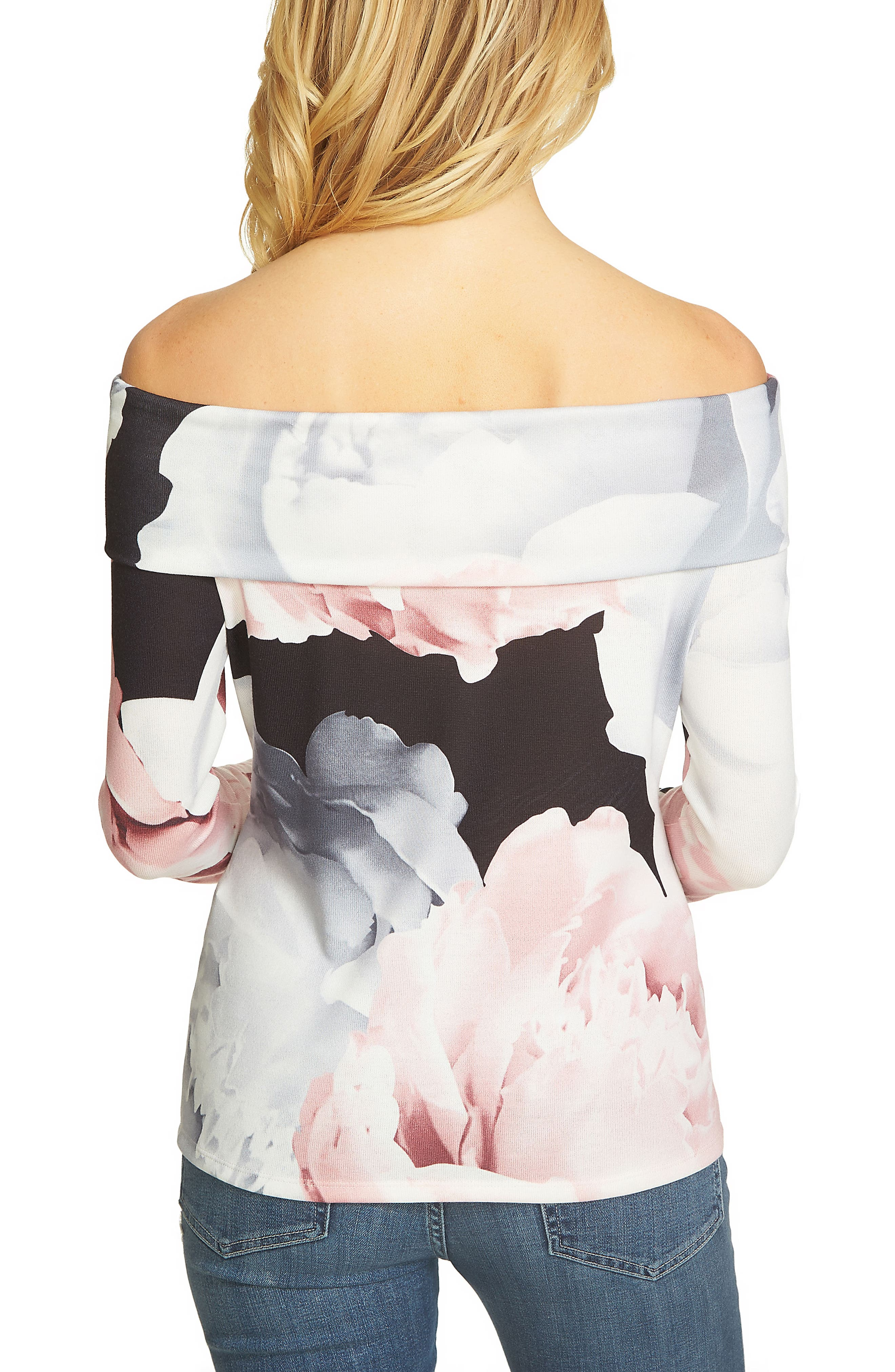 Magnificent Roses Off the Shoulder Top,                             Alternate thumbnail 2, color,                             010