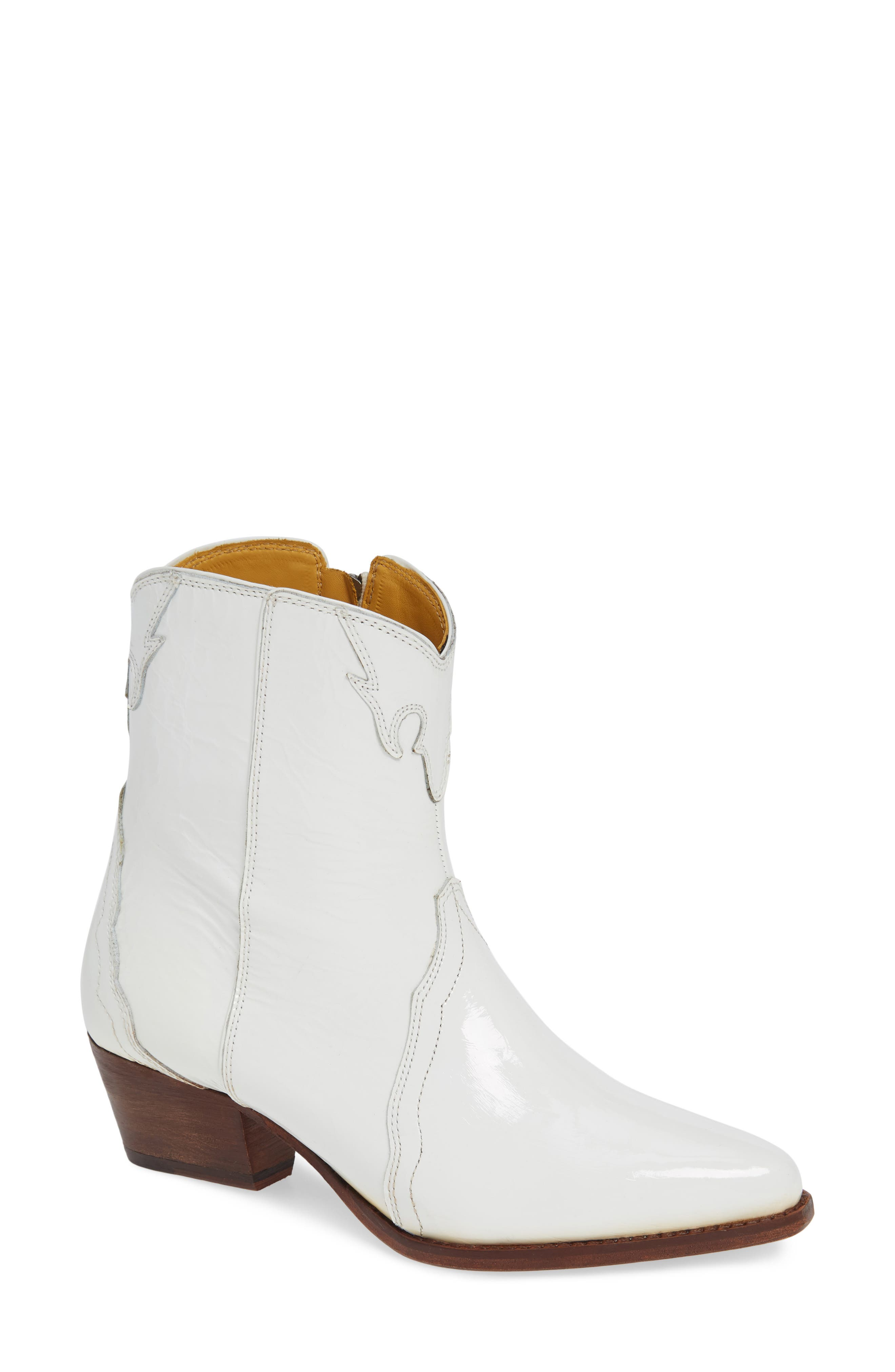 Free People New Frontier Western Bootie, White