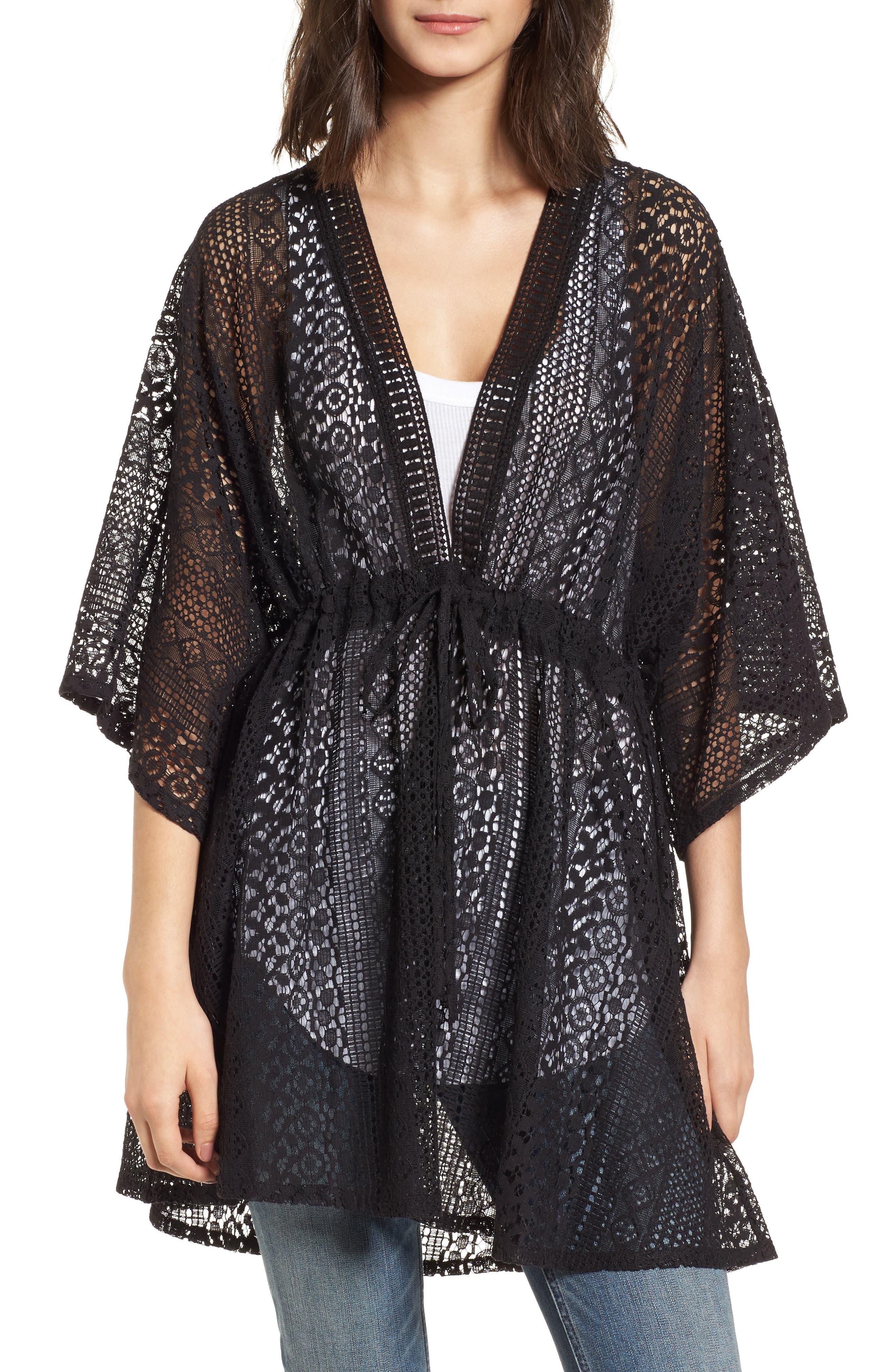 Lace Kimono Pullover,                             Main thumbnail 1, color,