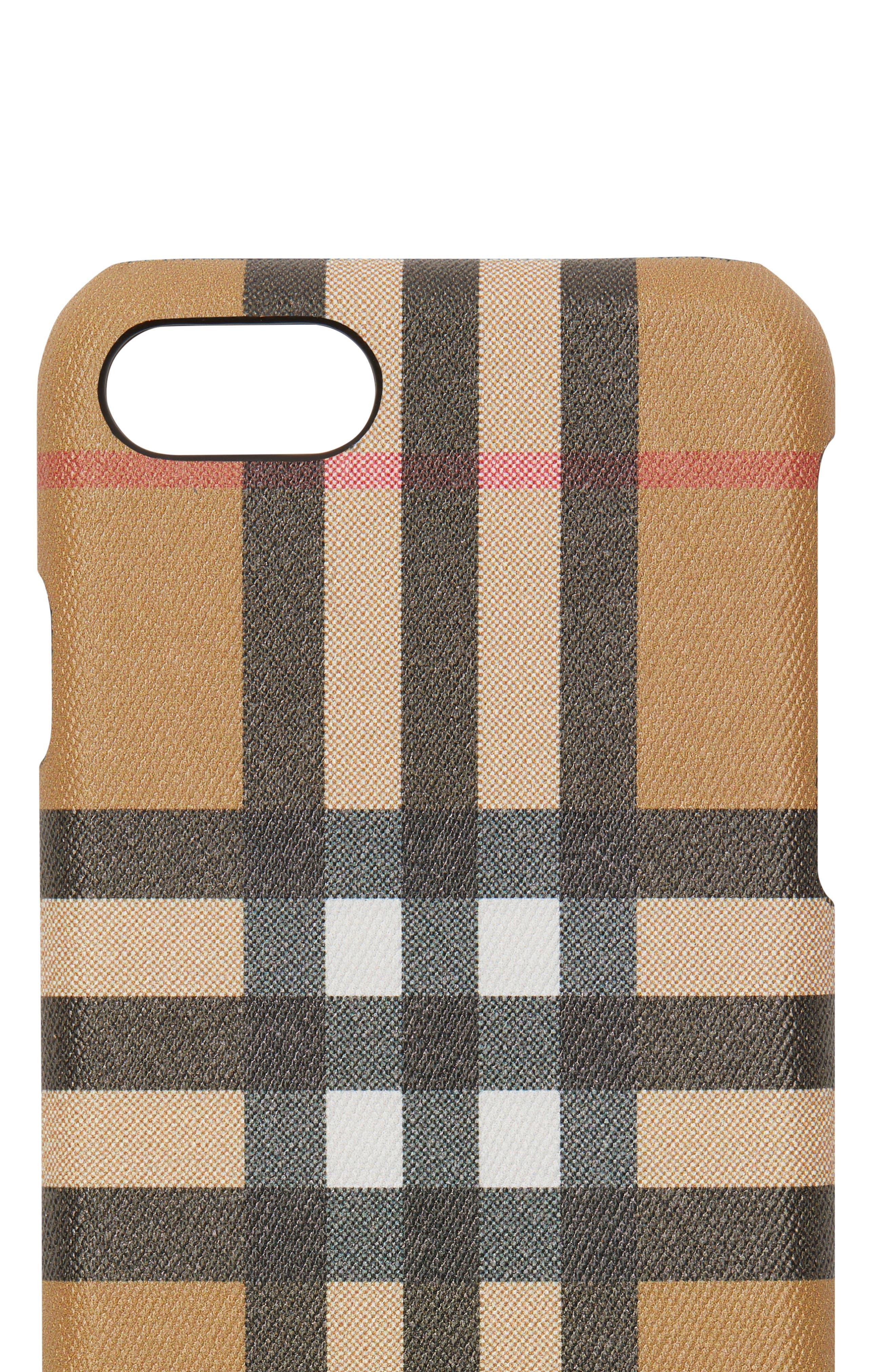 Vintage Check iPhone 8 Case,                             Alternate thumbnail 3, color,                             001