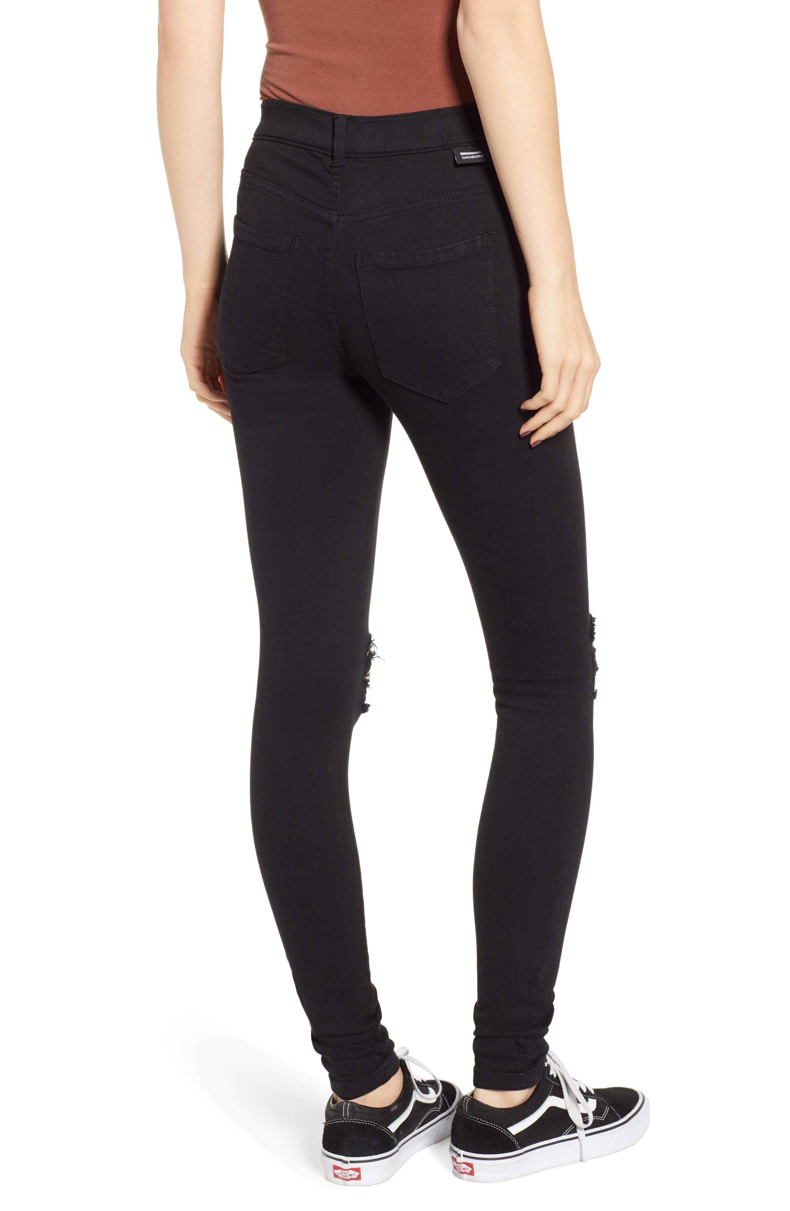Lexy Ripped Skinny Jeans,                             Alternate thumbnail 2, color,                             001