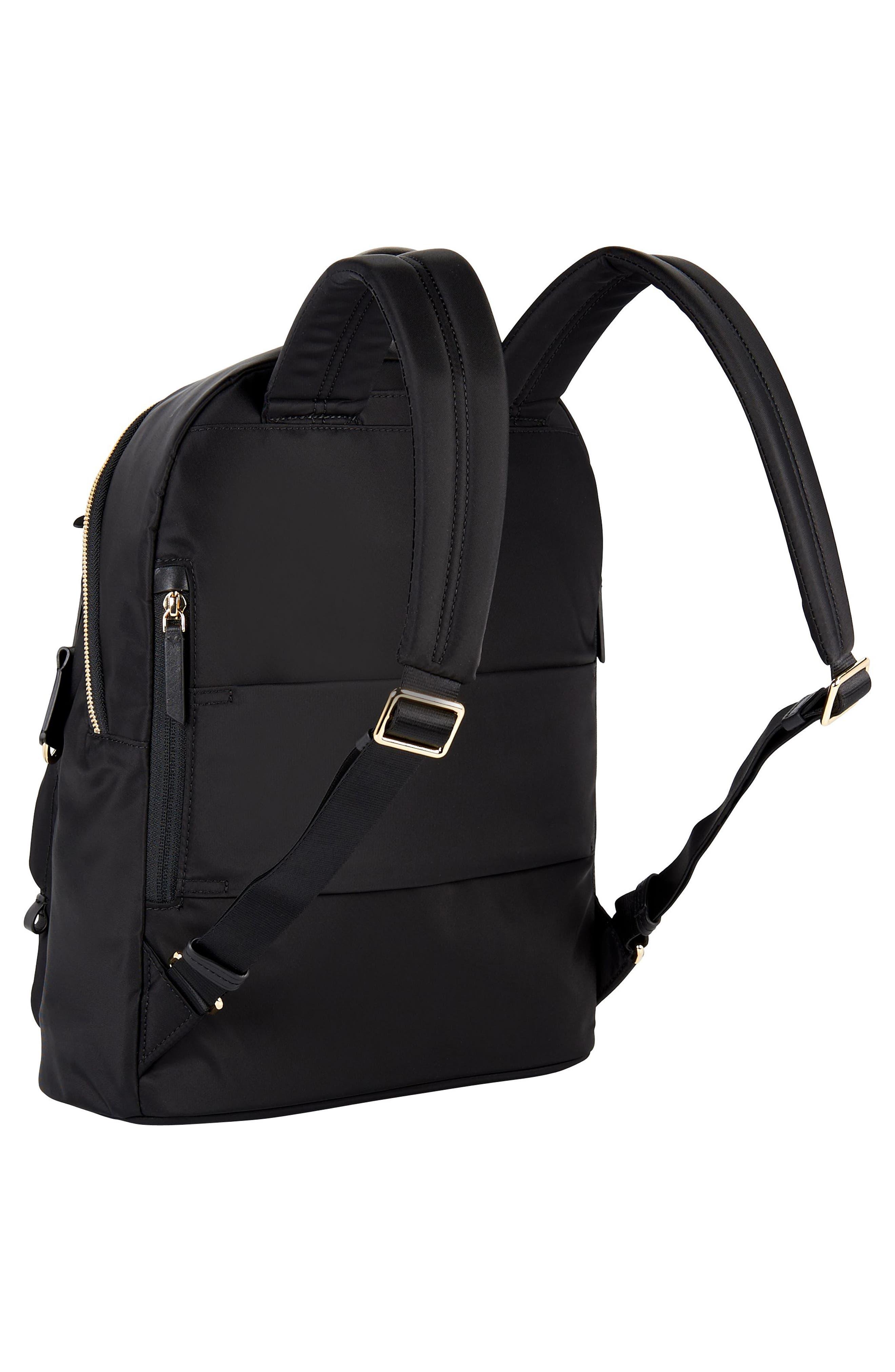 Voyageur Hagen Nylon Backpack,                             Alternate thumbnail 3, color,                             BLACK