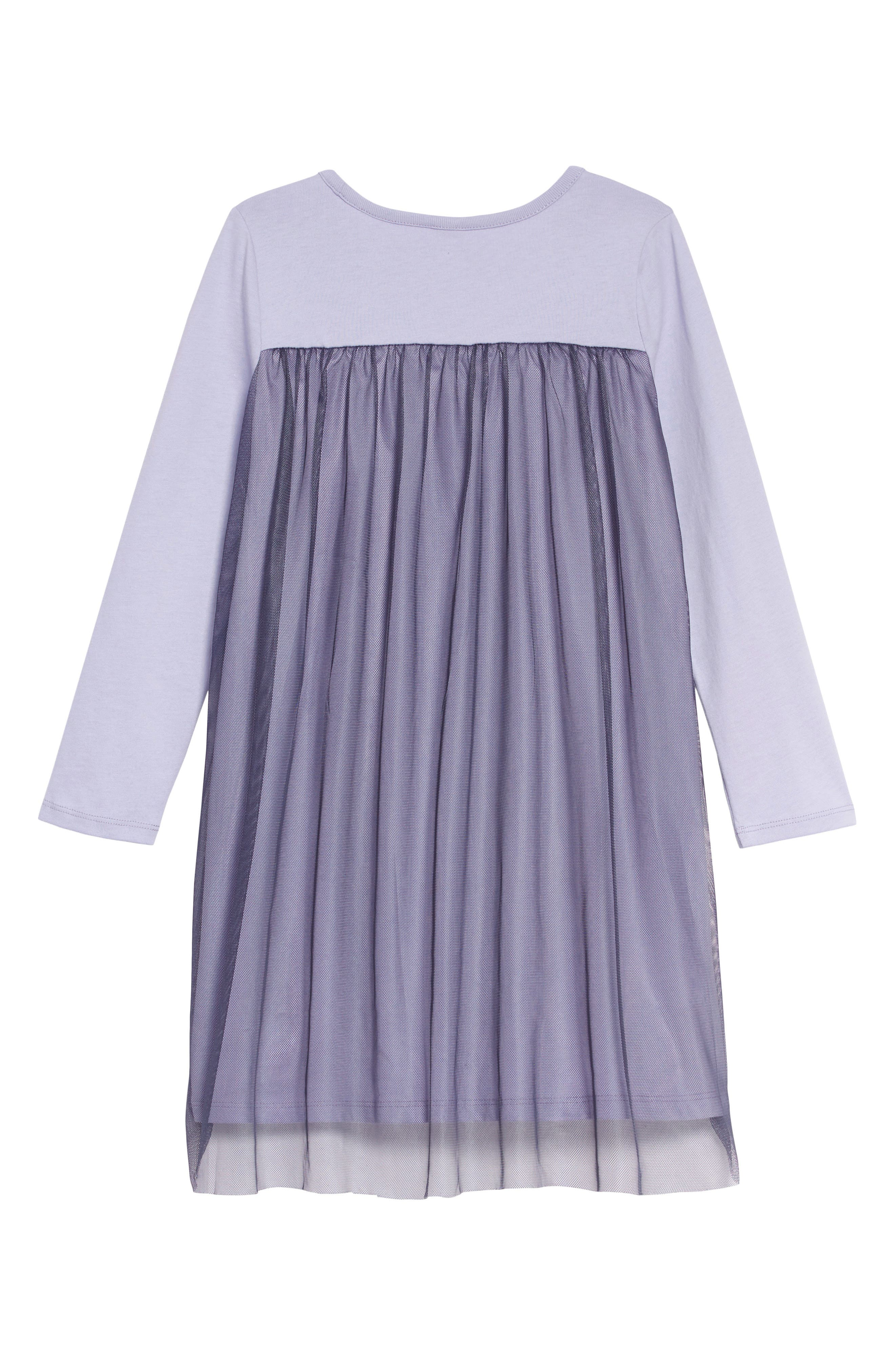 Twirling Tulle Dress,                             Alternate thumbnail 2, color,                             LILAC MIST