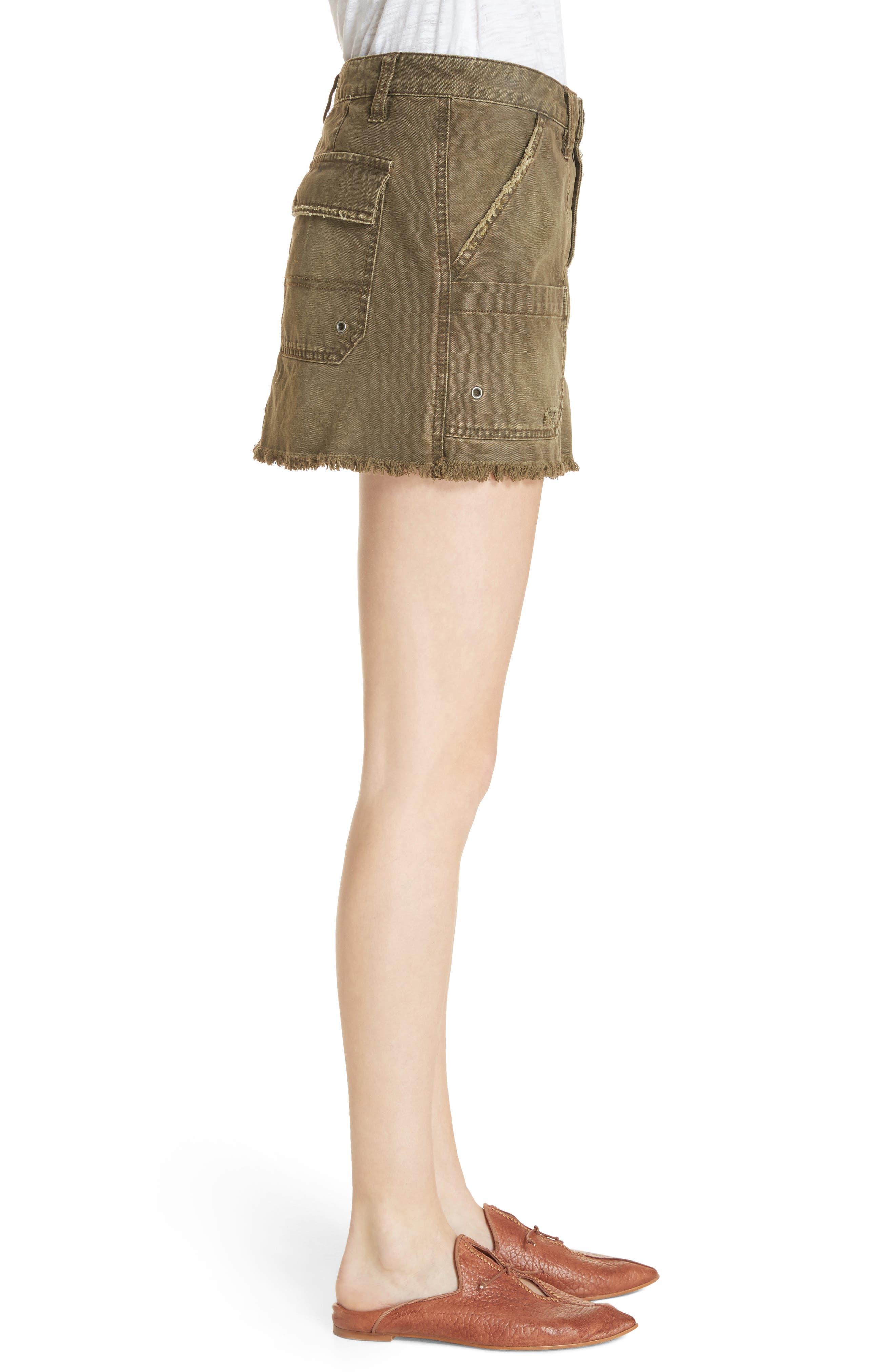 Canvas Miniskirt,                             Alternate thumbnail 8, color,