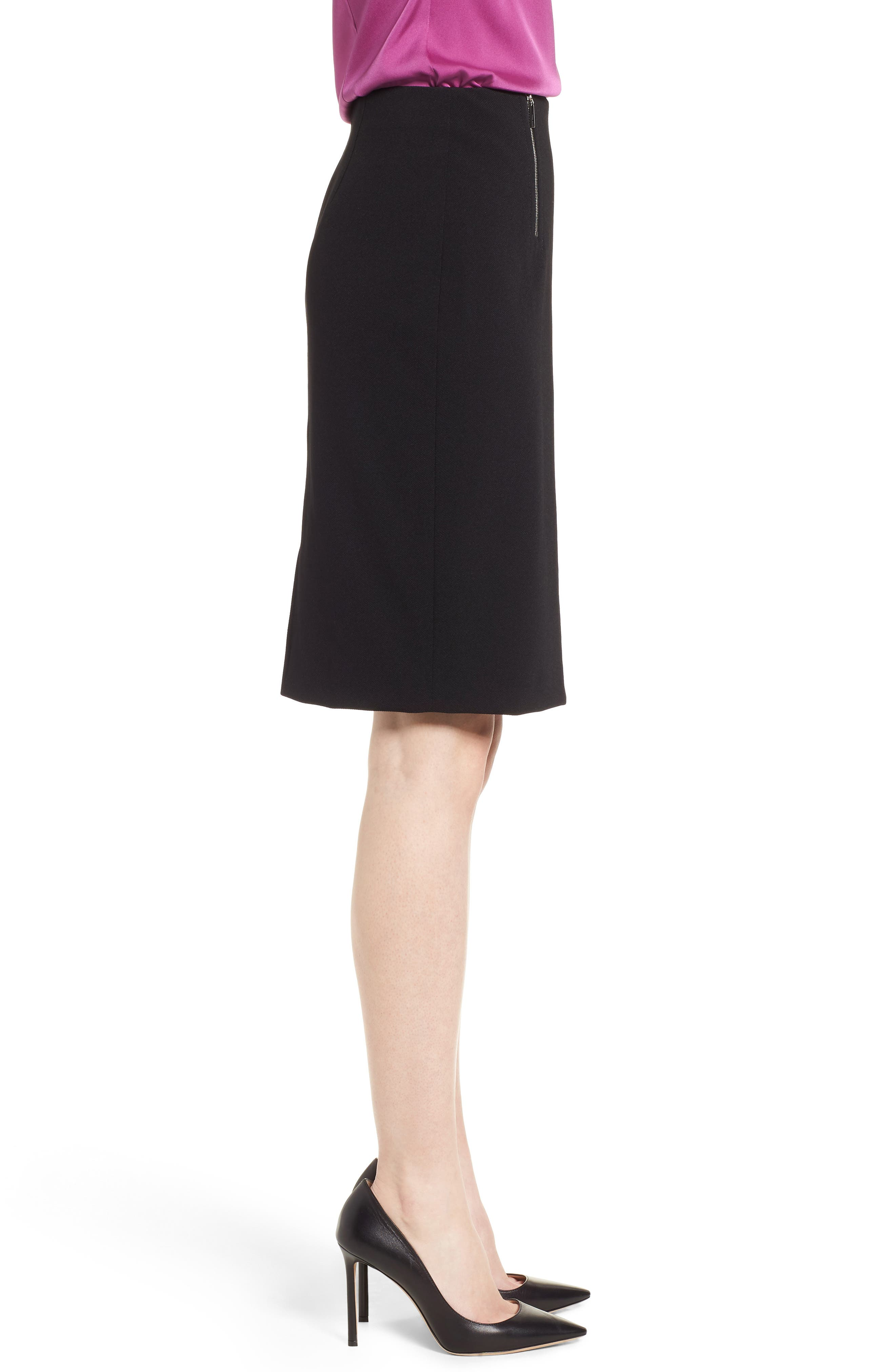 Vinueza Twill Jersey Suit Skirt,                             Alternate thumbnail 3, color,                             001