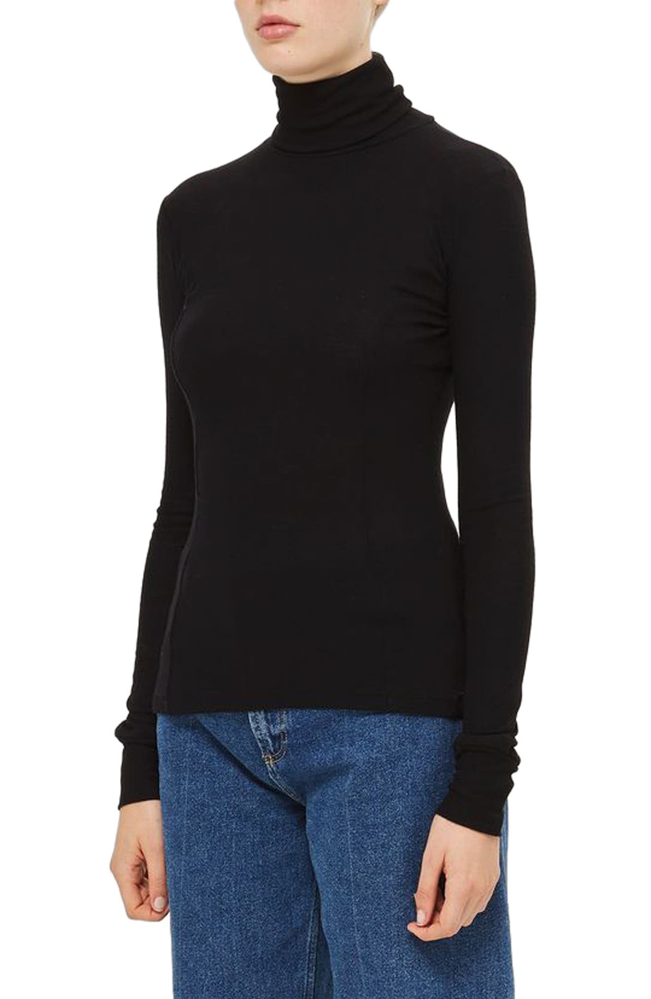 Wool Turtleneck Sweater,                             Alternate thumbnail 5, color,