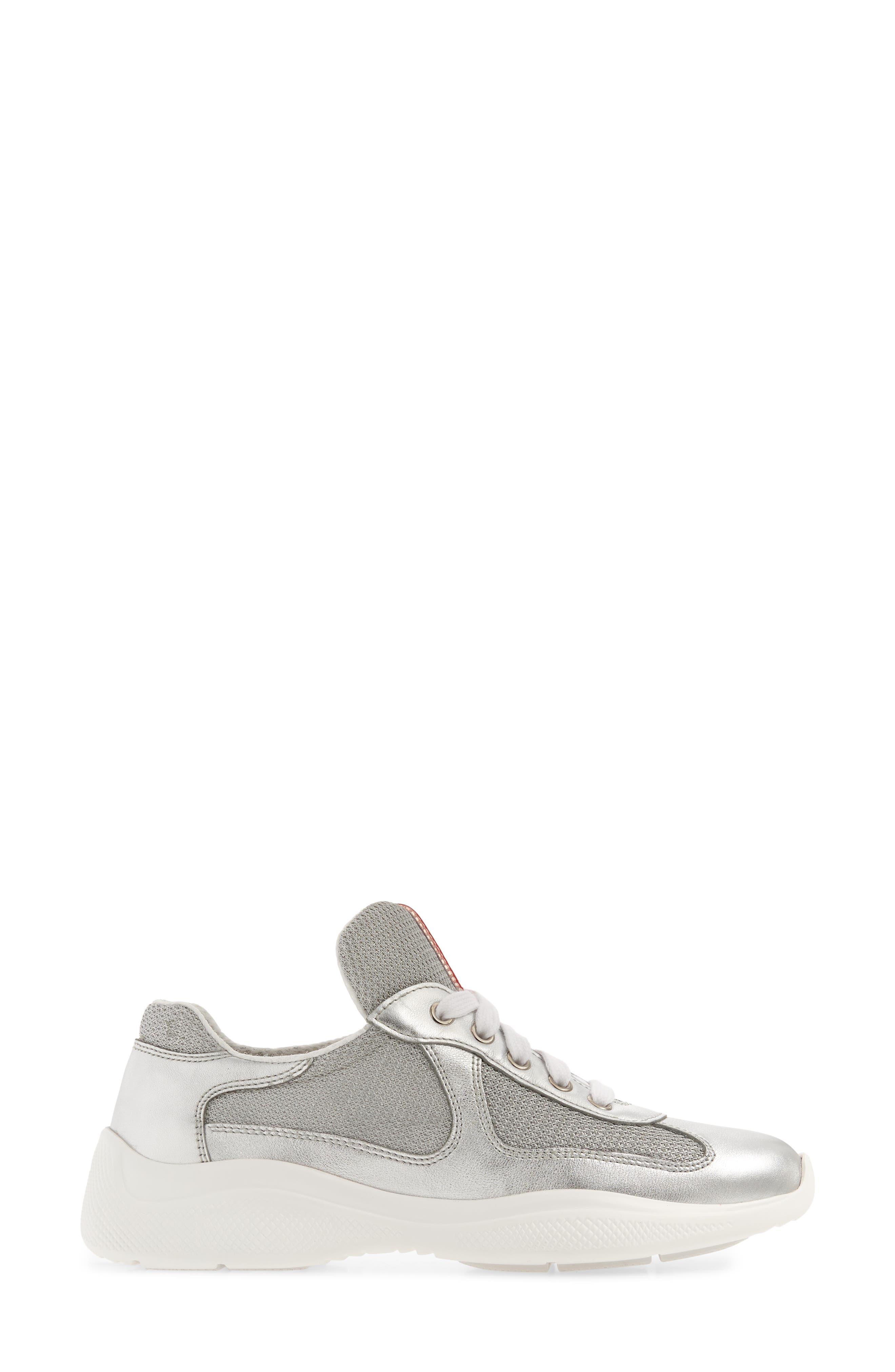 Low-Top Sneaker,                             Alternate thumbnail 3, color,                             METALLIC SILVER