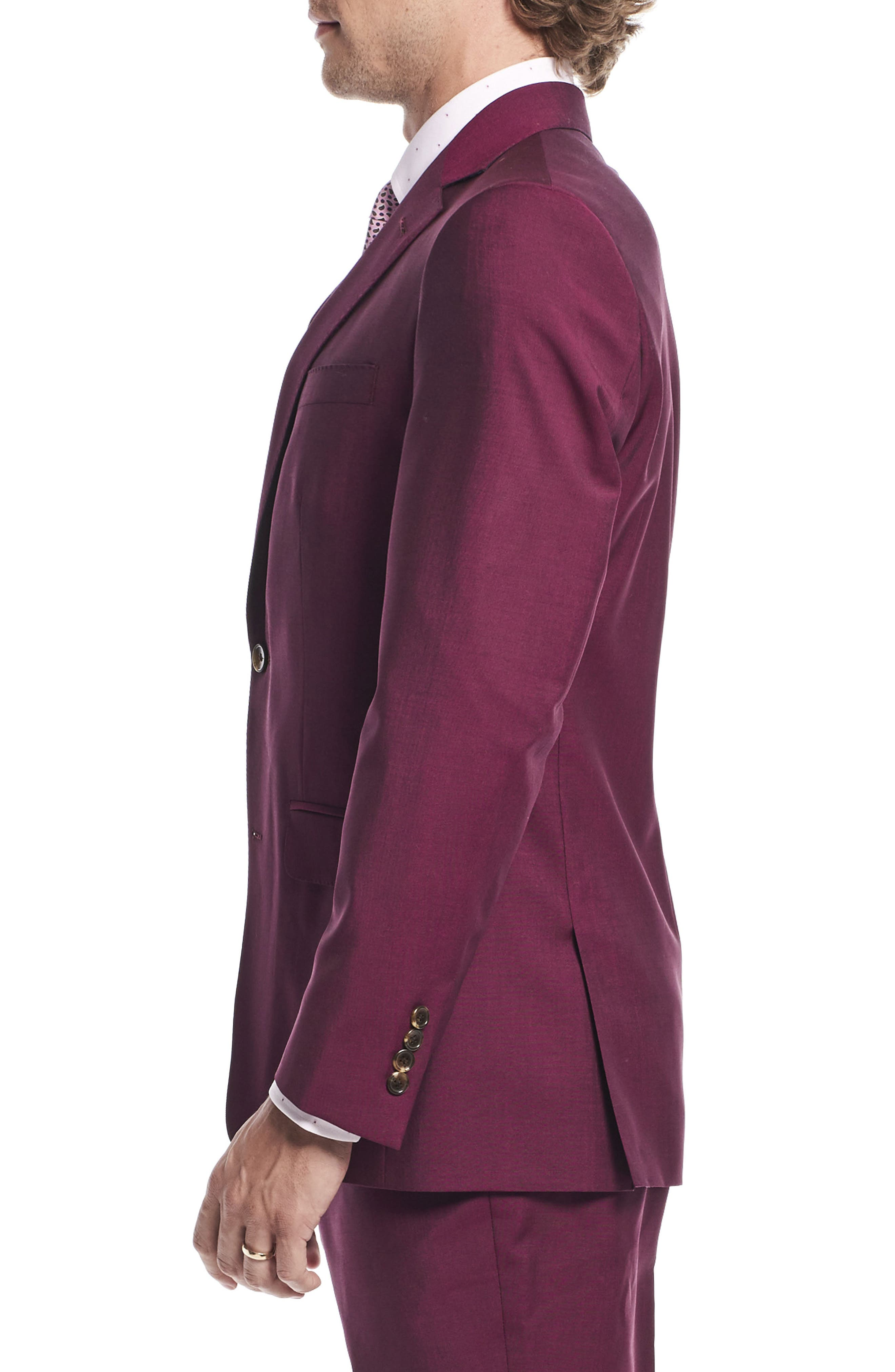 by Ilaria Urbinati Kilgore Slim Fit Solid Wool & Mohair Suit,                             Alternate thumbnail 6, color,