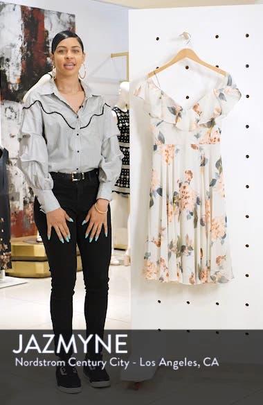 Kelli Ohana Print Chiffon Cold Shoulder Dress, sales video thumbnail