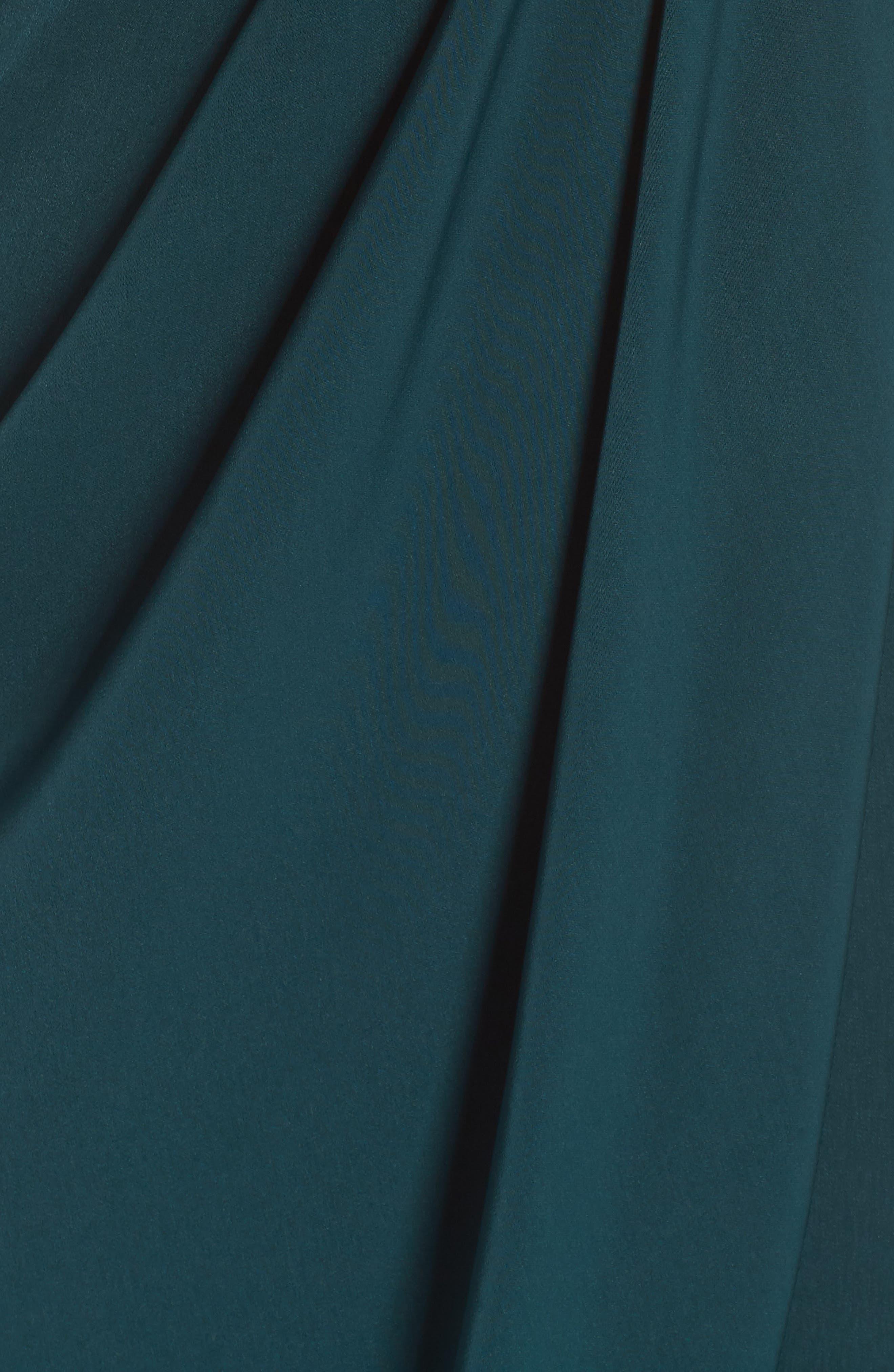 Tulip Hem Maxi Dress,                             Alternate thumbnail 6, color,                             SEAWEED