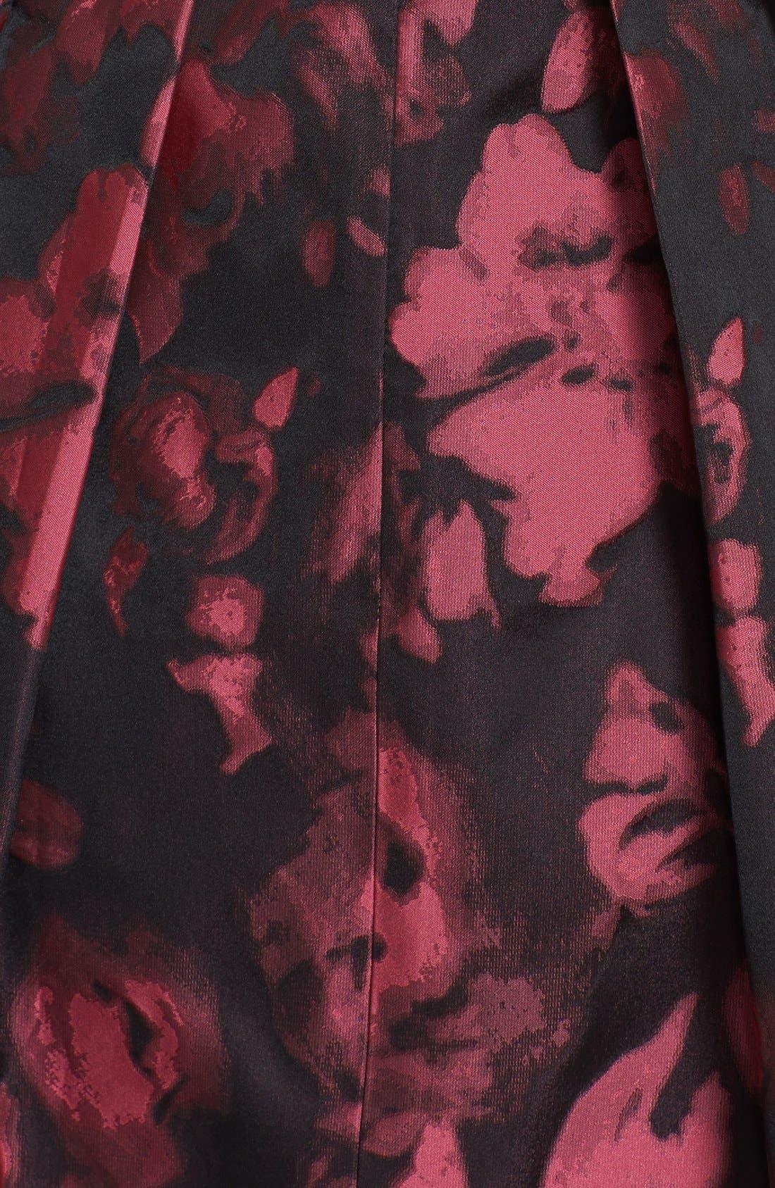 Jacquard Fit & Flare Dress,                             Alternate thumbnail 2, color,                             660