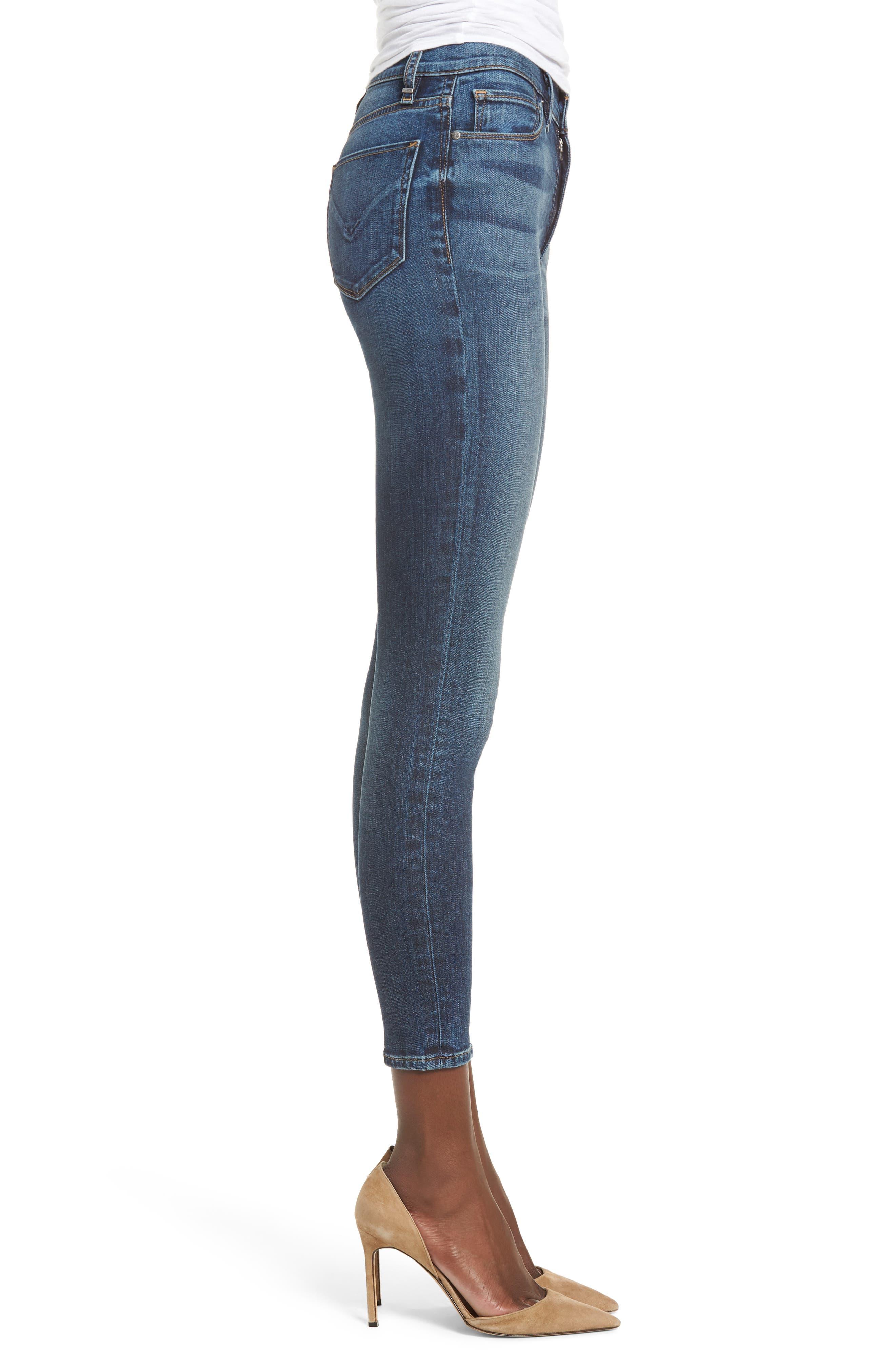 Barbara High Waist Ankle Skinny Jeans,                             Alternate thumbnail 3, color,                             CLEAN SIDE BAR