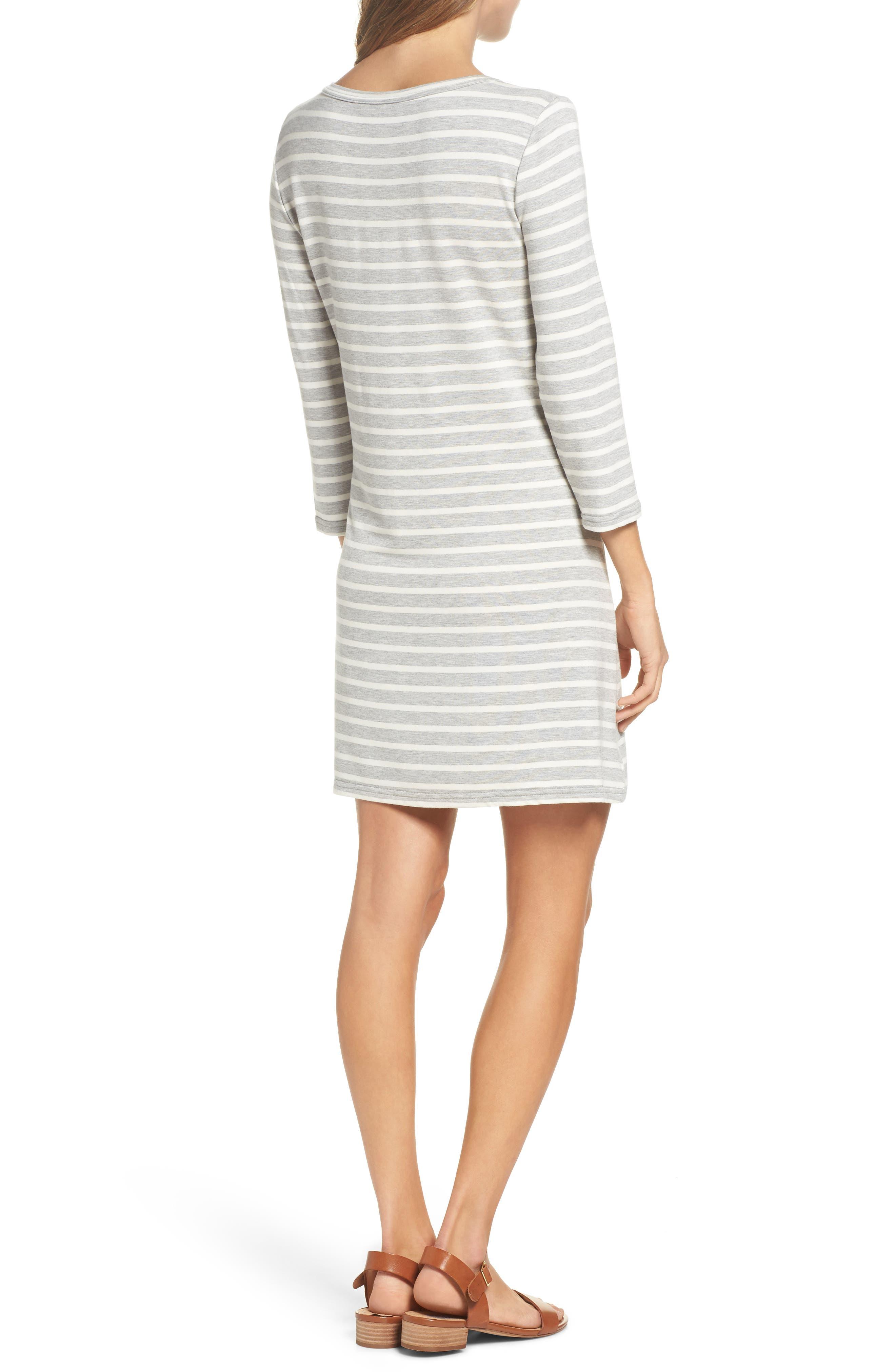 Adelene Stripe Knit Shift Dress,                             Alternate thumbnail 2, color,                             050