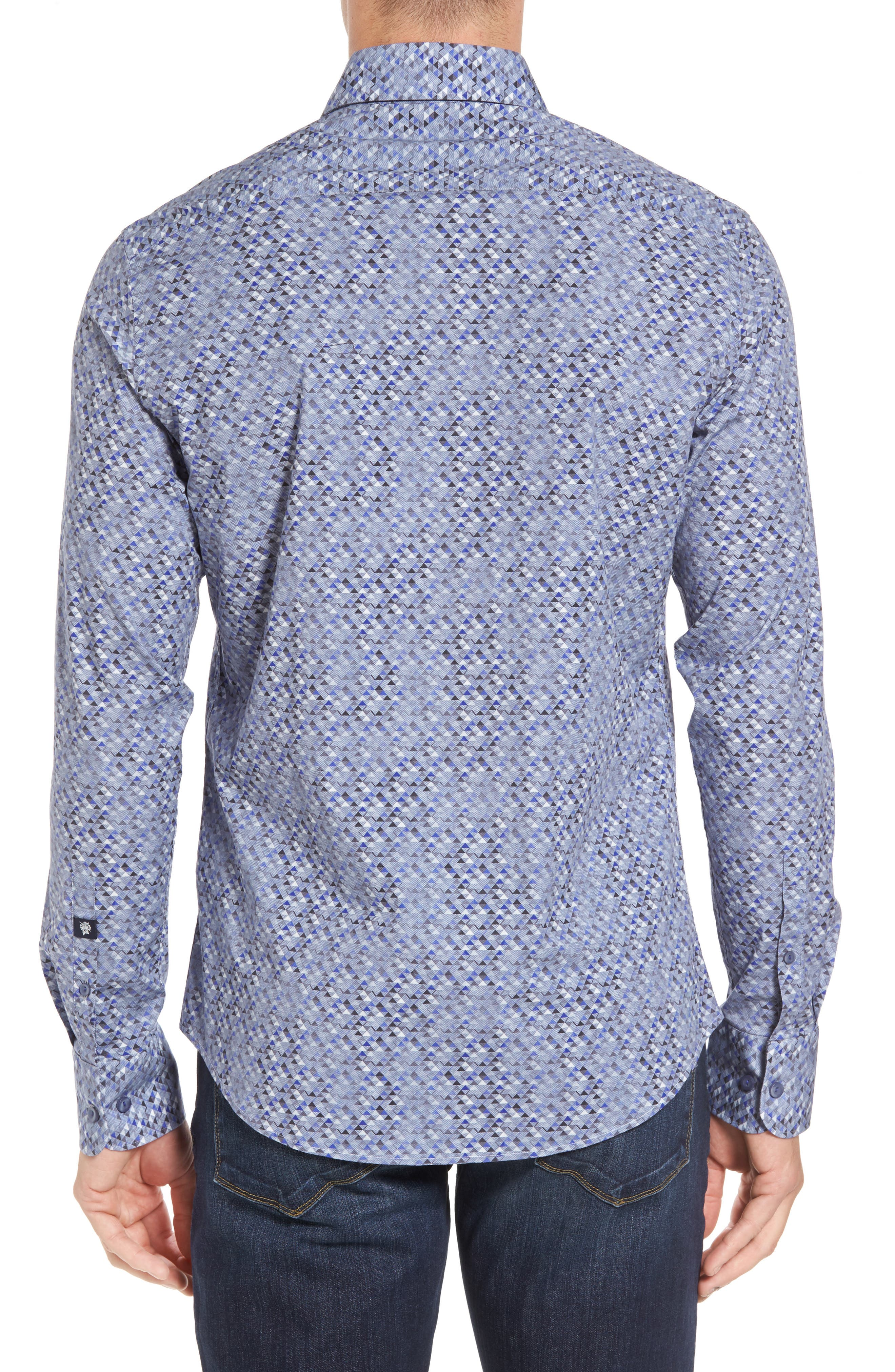 Slim Fit Triangle Print Sport Shirt,                             Alternate thumbnail 2, color,                             020