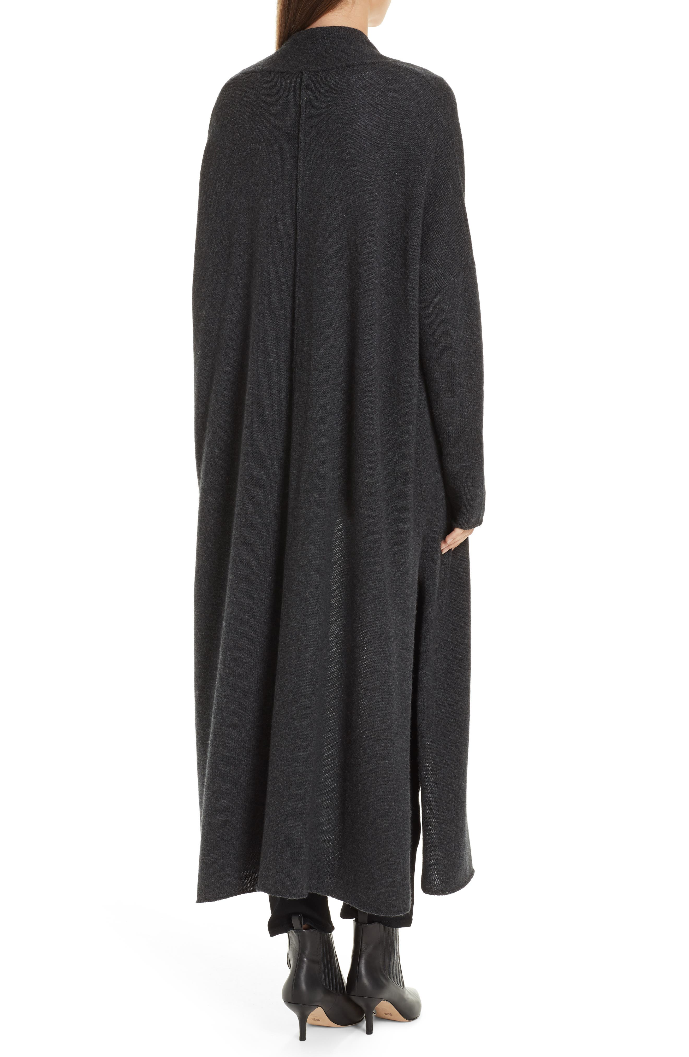 Orial Wool Cashmere Duster,                             Alternate thumbnail 2, color,                             CHARCOAL