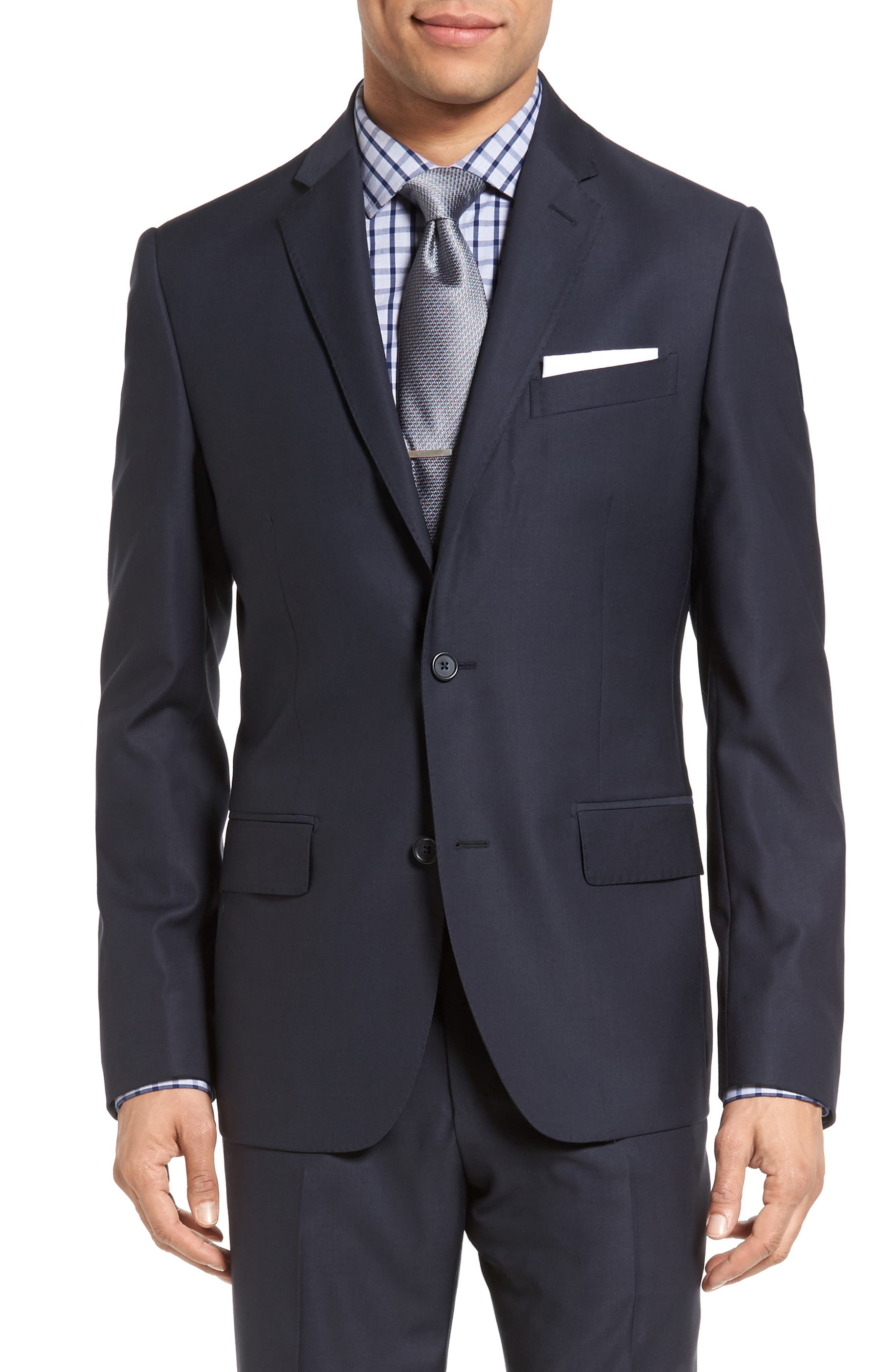 Classic Fit Solid Wool Suit,                             Alternate thumbnail 30, color,