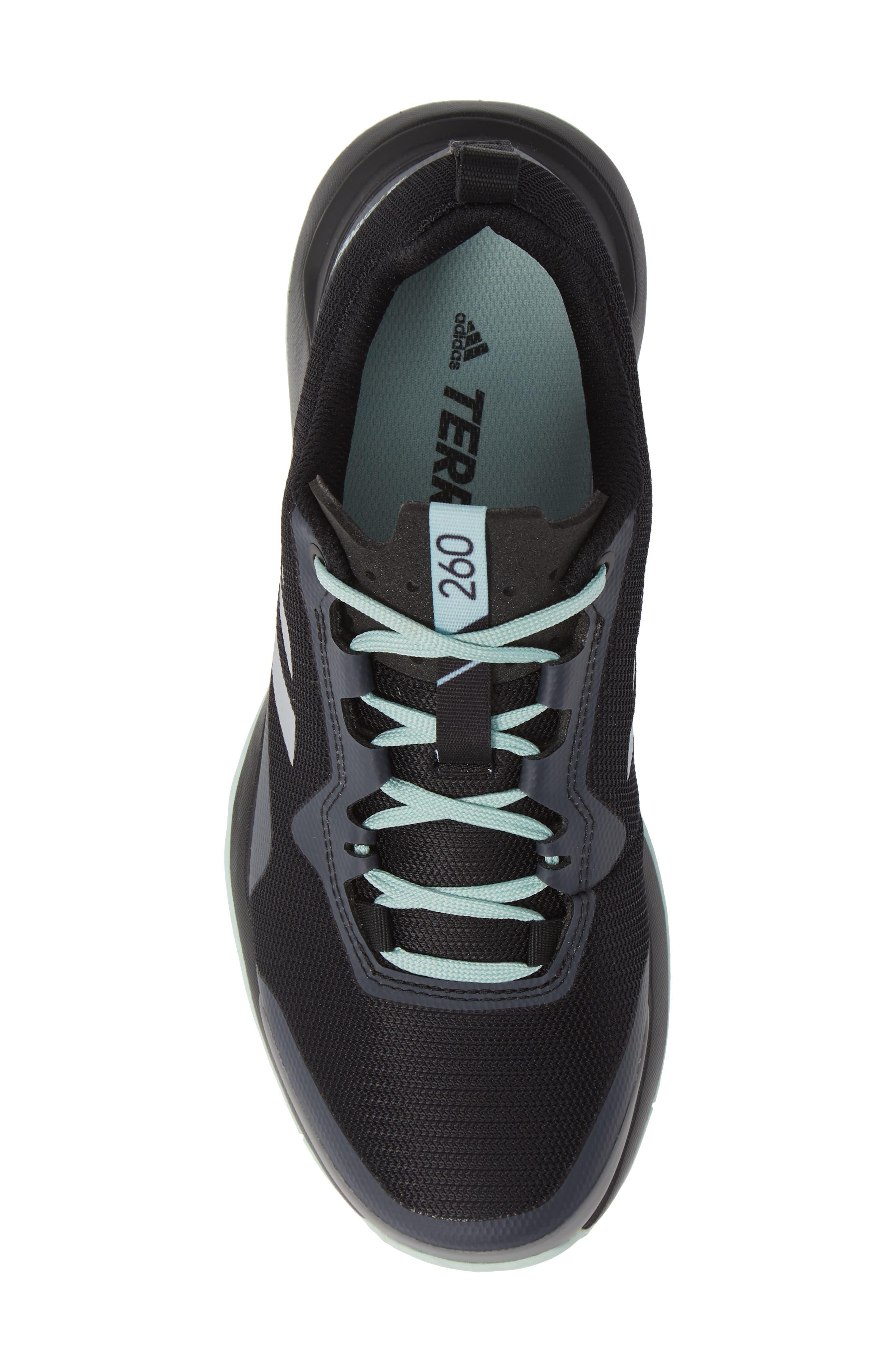 Terrex CMTK Gore-Tex<sup>®</sup> Waterproof Hiking Sneaker,                             Alternate thumbnail 5, color,                             BLACK/ CHALK WHITE/ ASH GREEN