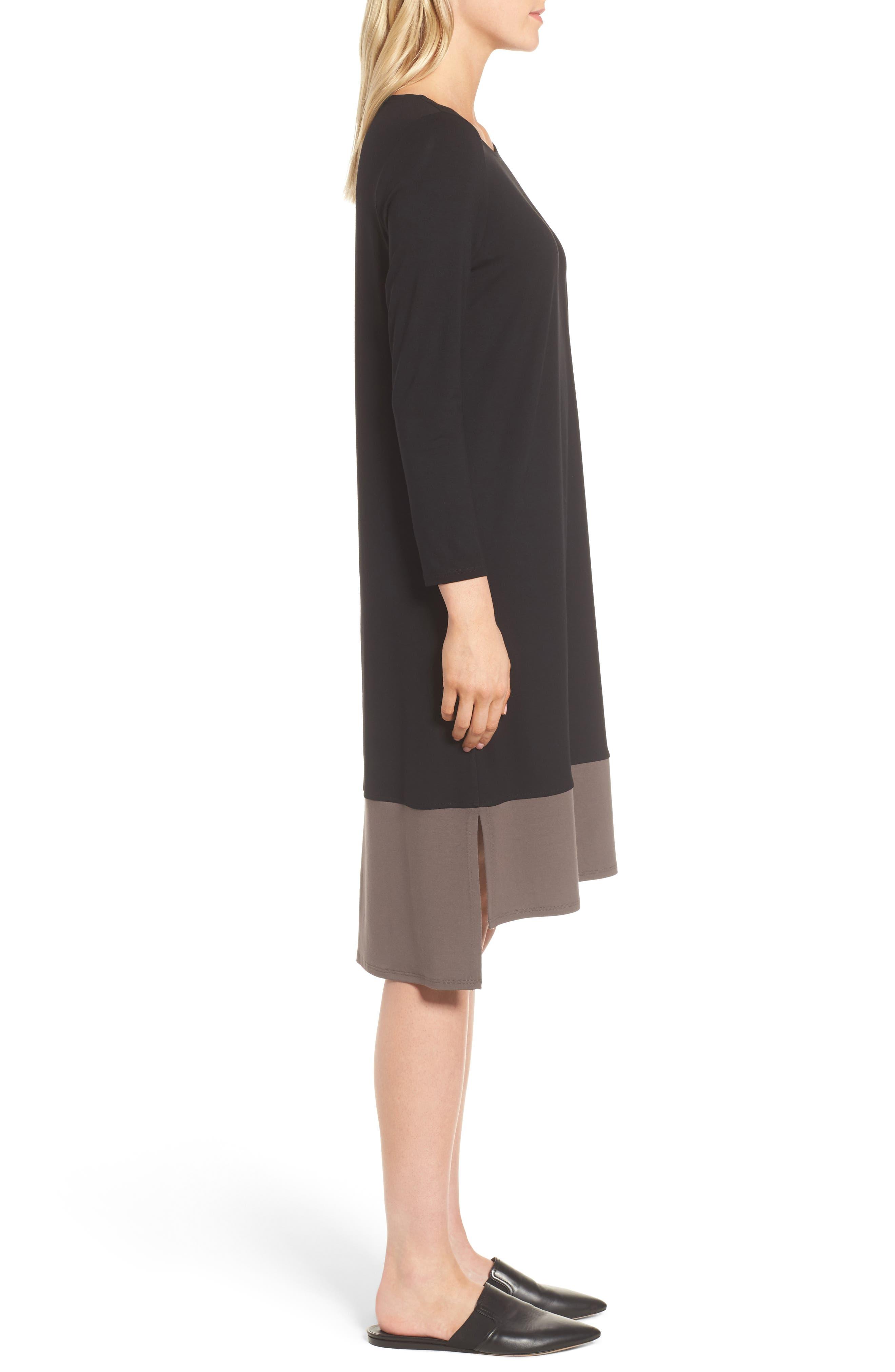 Colorblock Jersey Shift Dress,                             Alternate thumbnail 3, color,