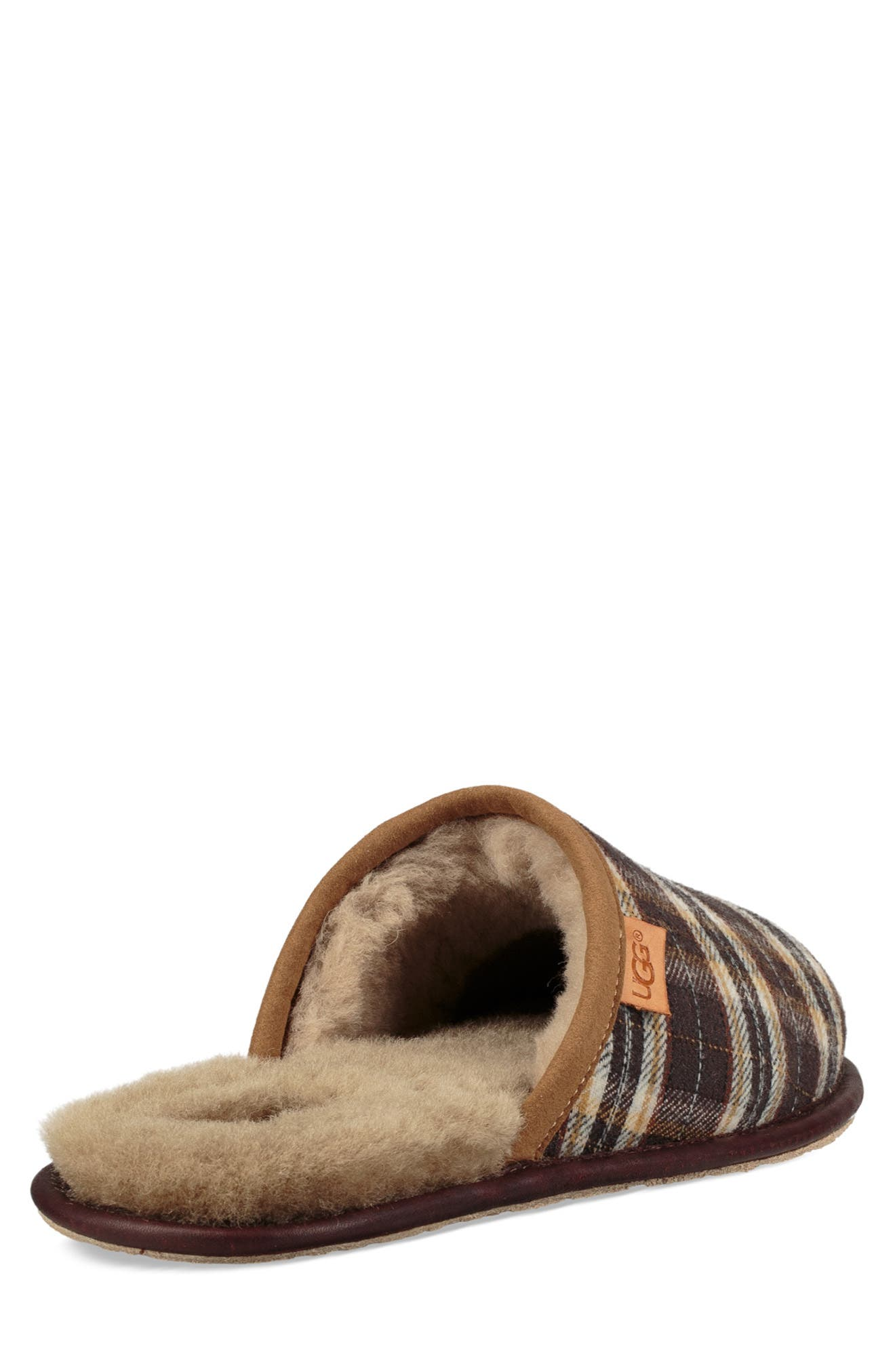 Scuff Slipper,                             Alternate thumbnail 2, color,                             CHESTNUT