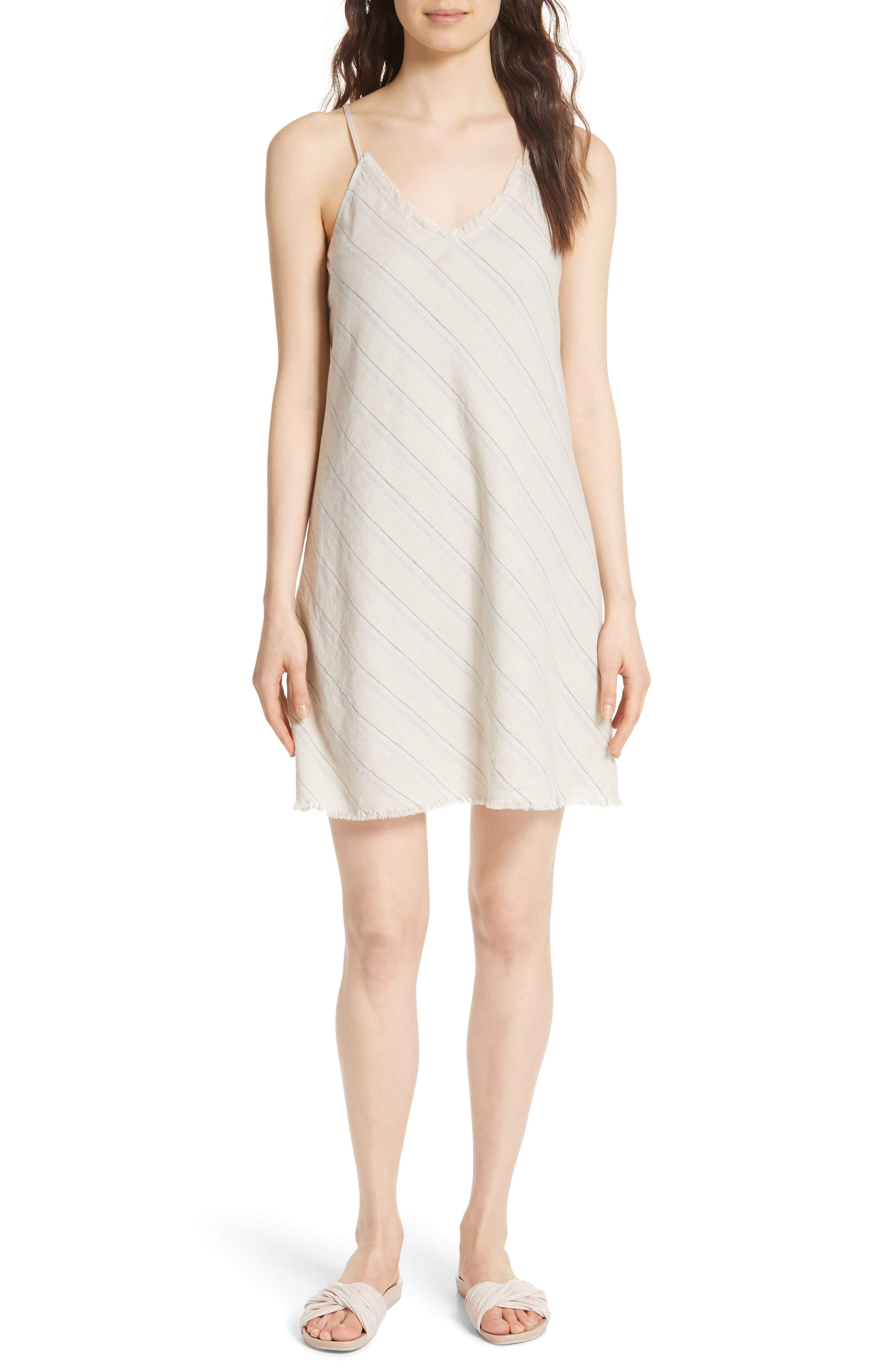 Atm Anthony Thomas Melillo Stripe Shift Dress, Beige