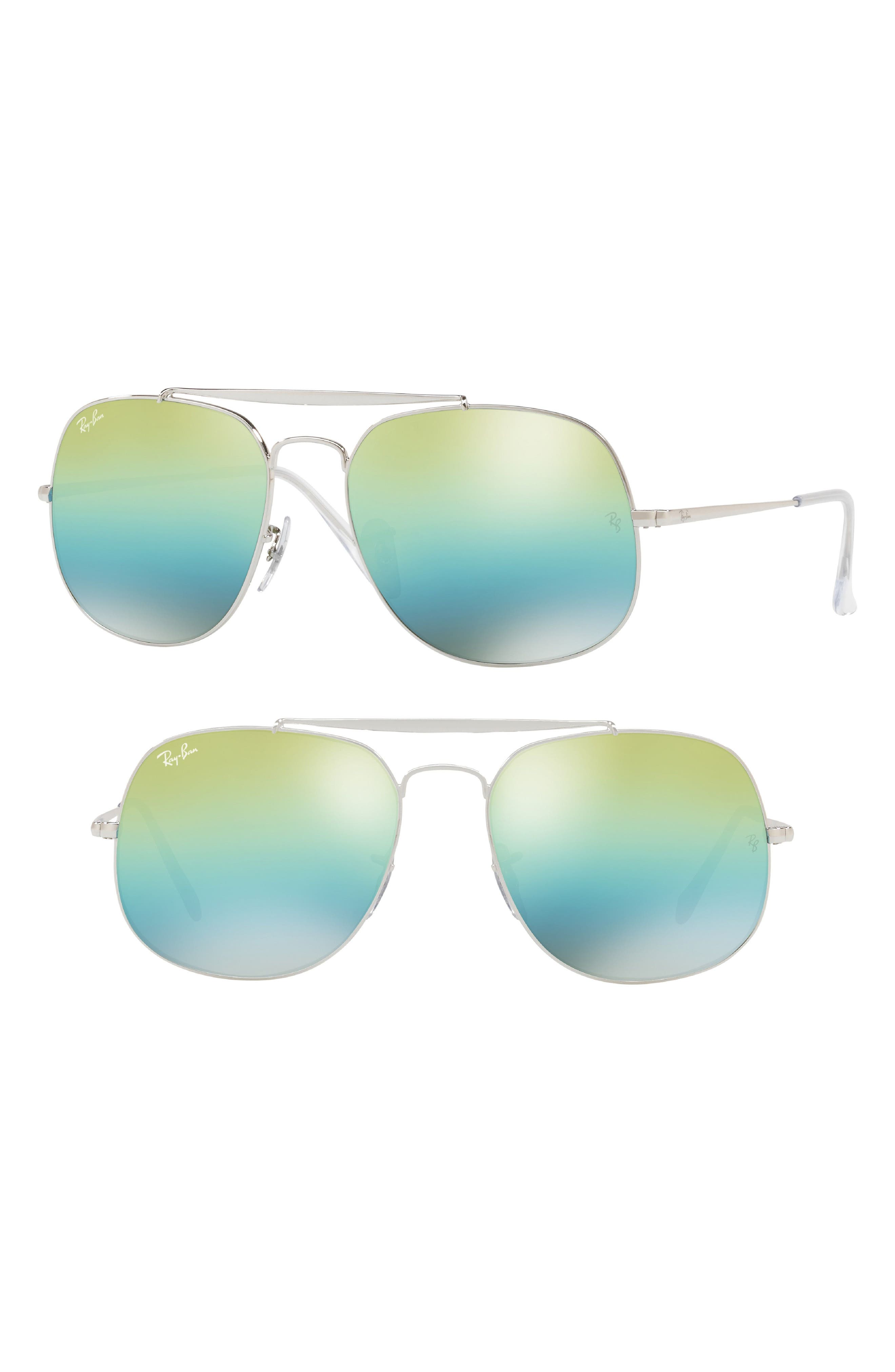 57mm Aviator Sunglasses,                         Main,                         color, 400