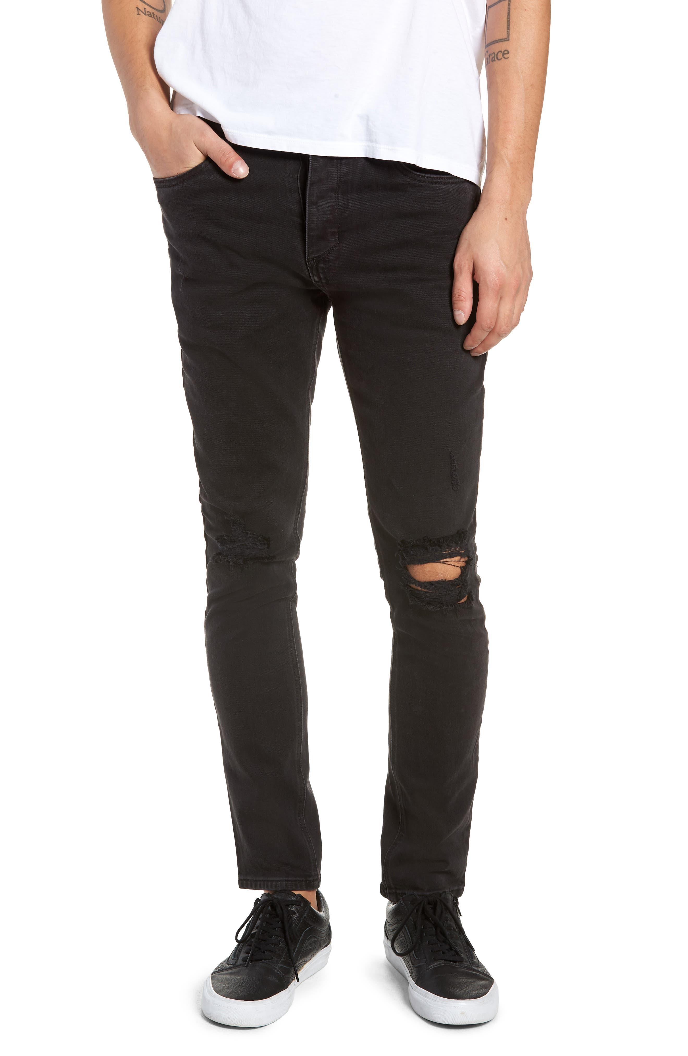 Joe Blow Slim Fit Jeans,                             Main thumbnail 1, color,                             BUSTED BLACK