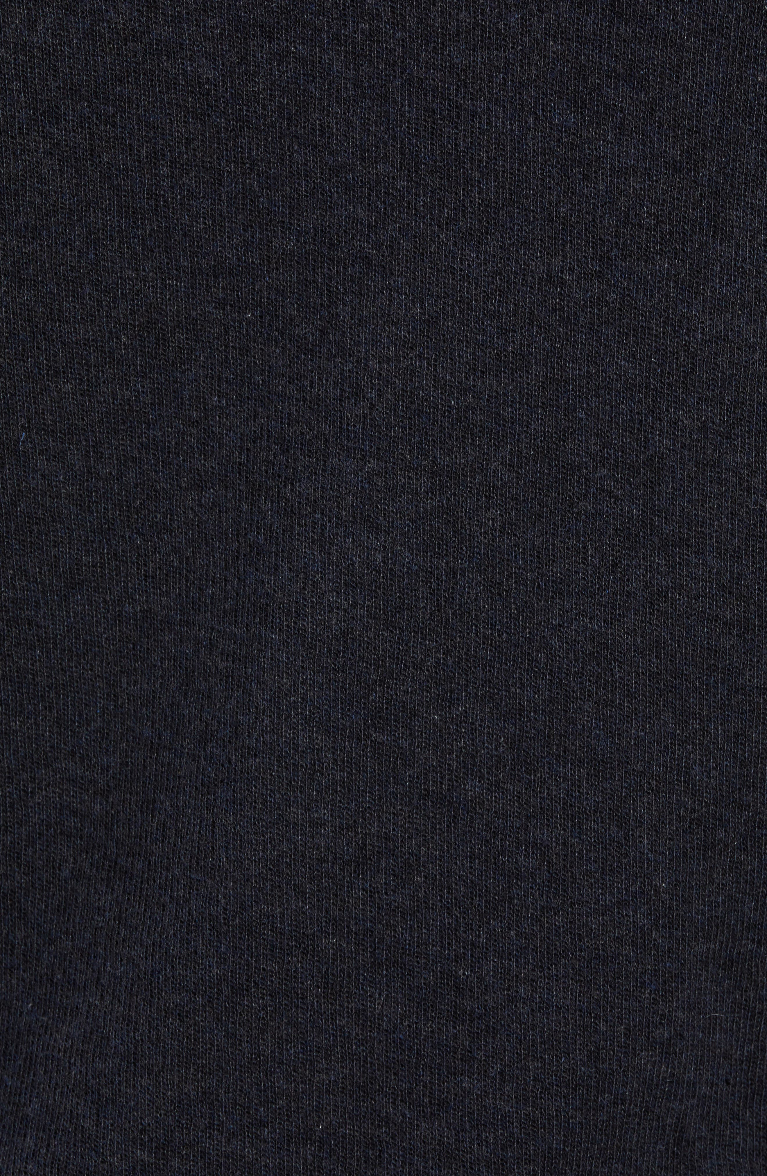 Double Knit Hoodie,                             Alternate thumbnail 5, color,                             H MANHATTAN NAVY