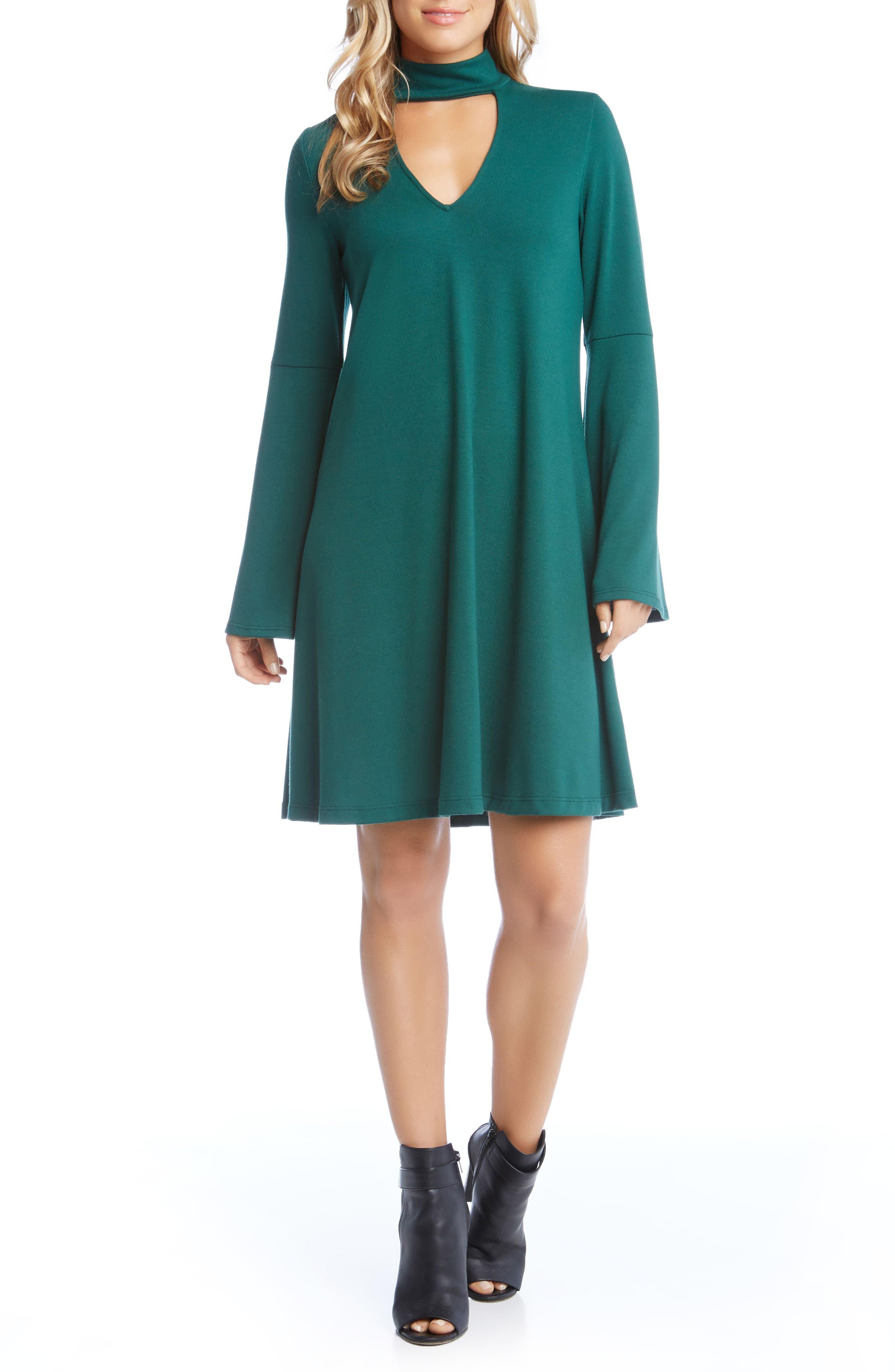 Taylor Choker Neck Dress,                             Main thumbnail 2, color,
