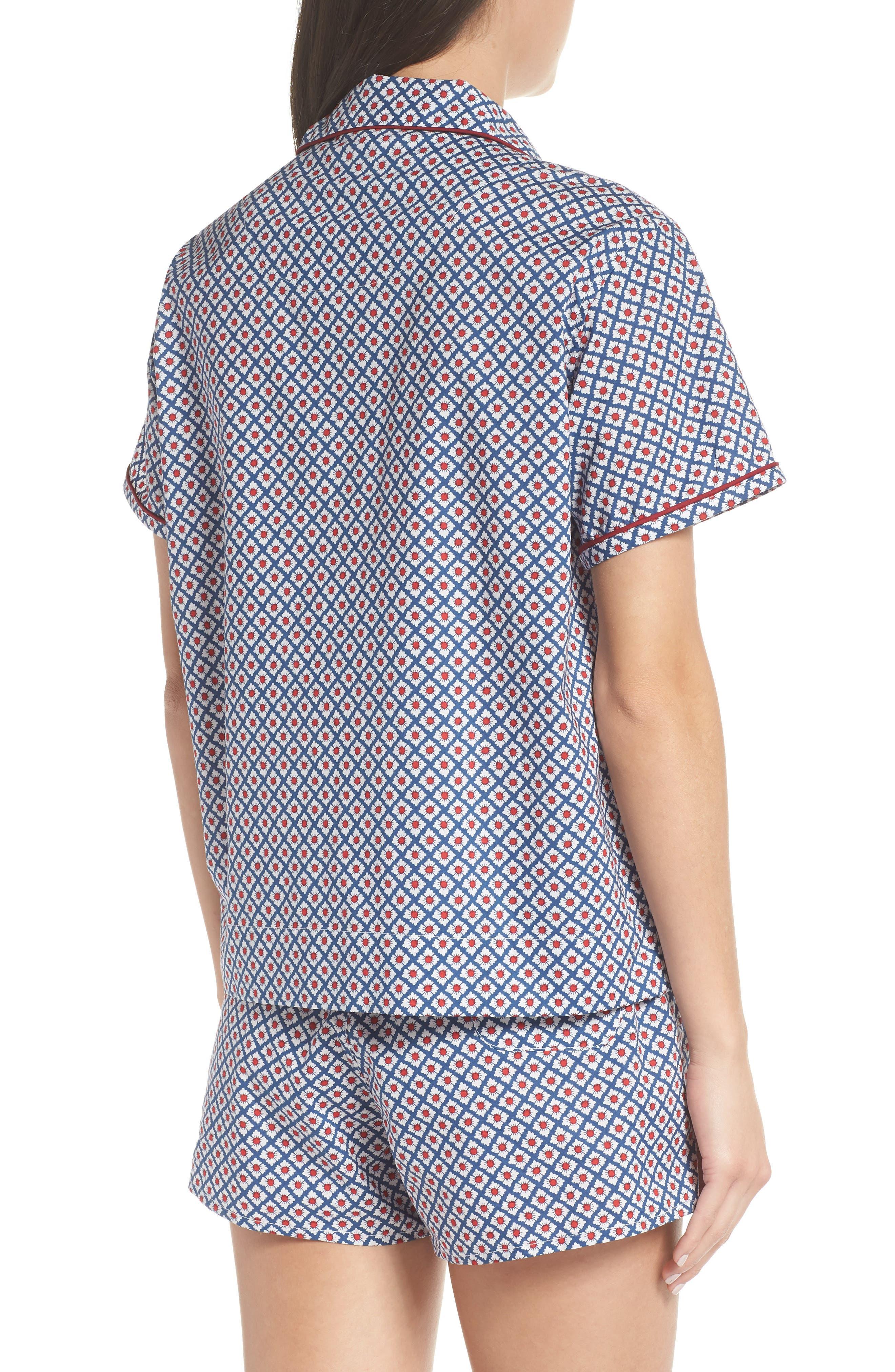Corita Women's Pajama Shirt,                             Alternate thumbnail 3, color,                             NAVY
