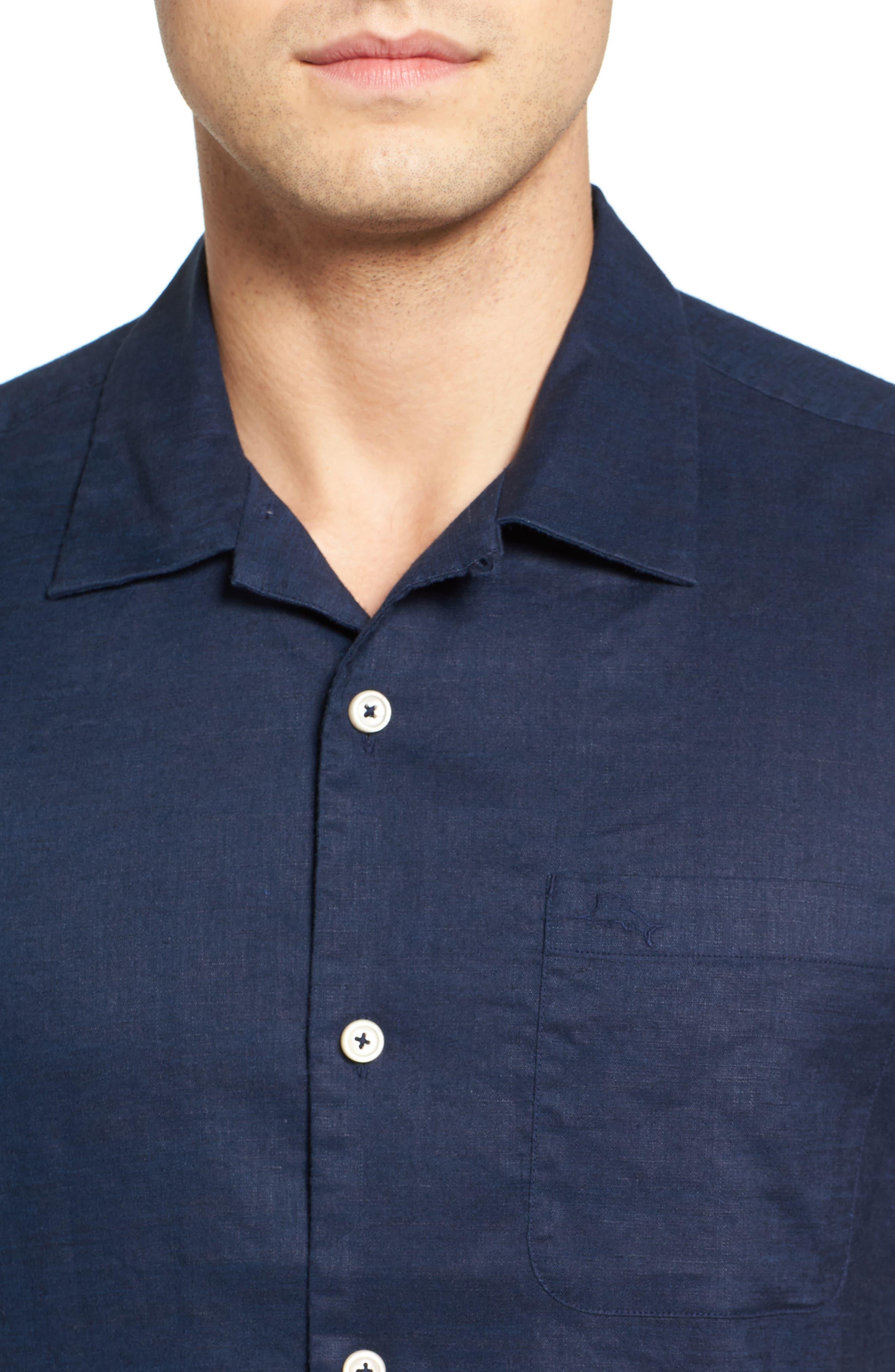 Monaco Tides Standard Fit Linen Blend Camp Shirt,                             Alternate thumbnail 23, color,