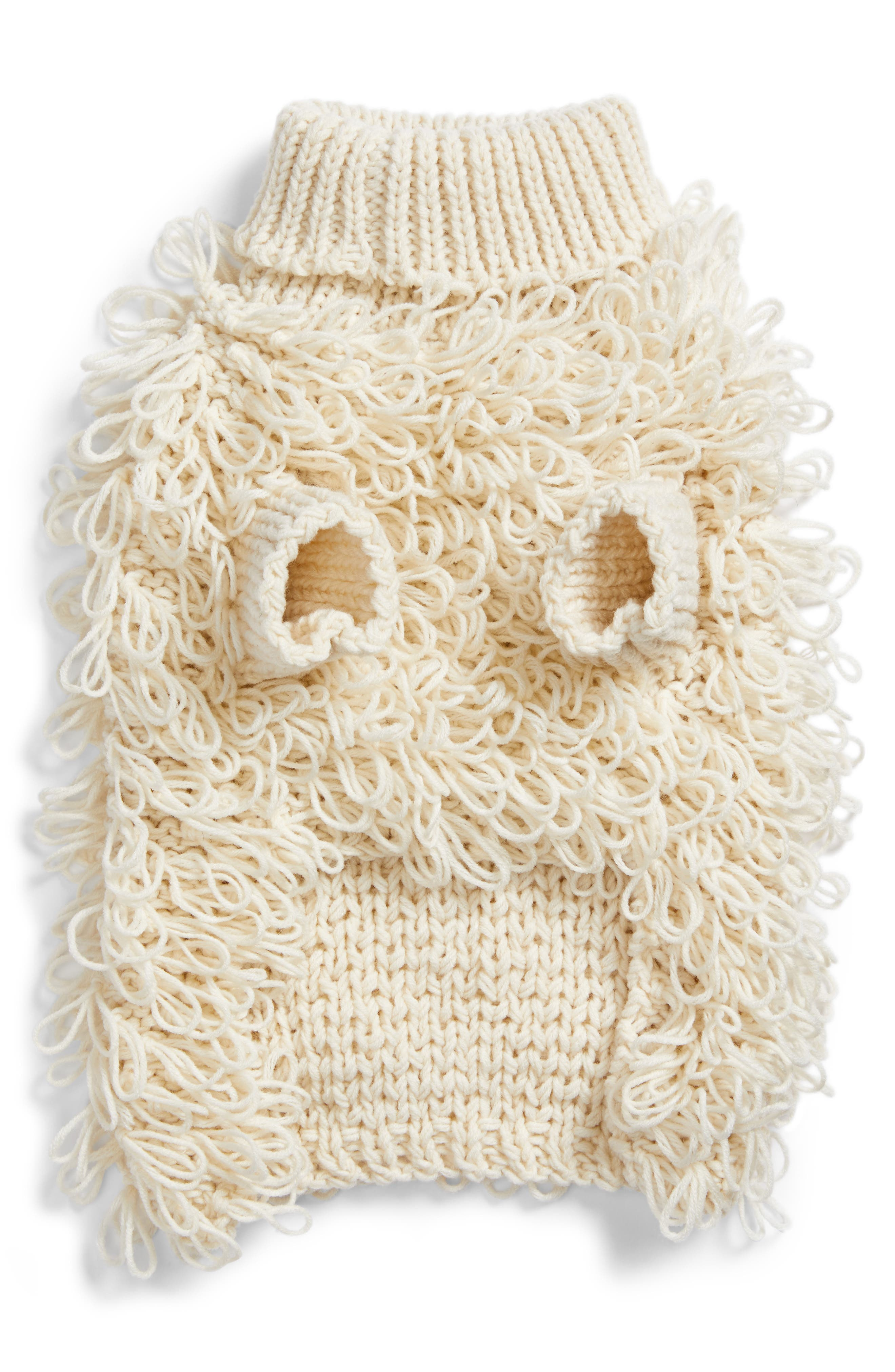 Curly Knit Dog Sweater,                             Main thumbnail 1, color,                             200