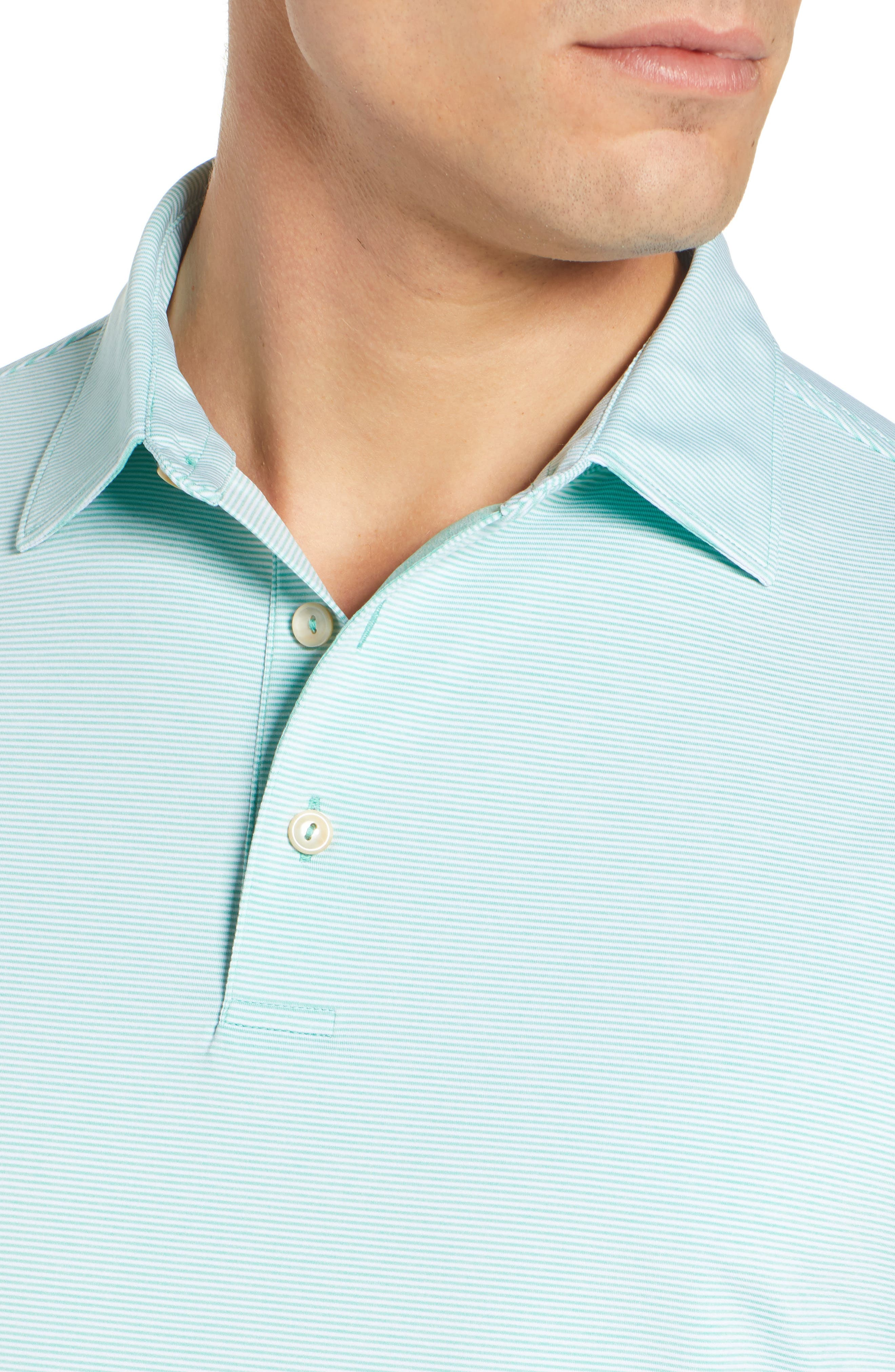 Jubilee Stripe Jersey Polo,                             Alternate thumbnail 4, color,                             MEADOW