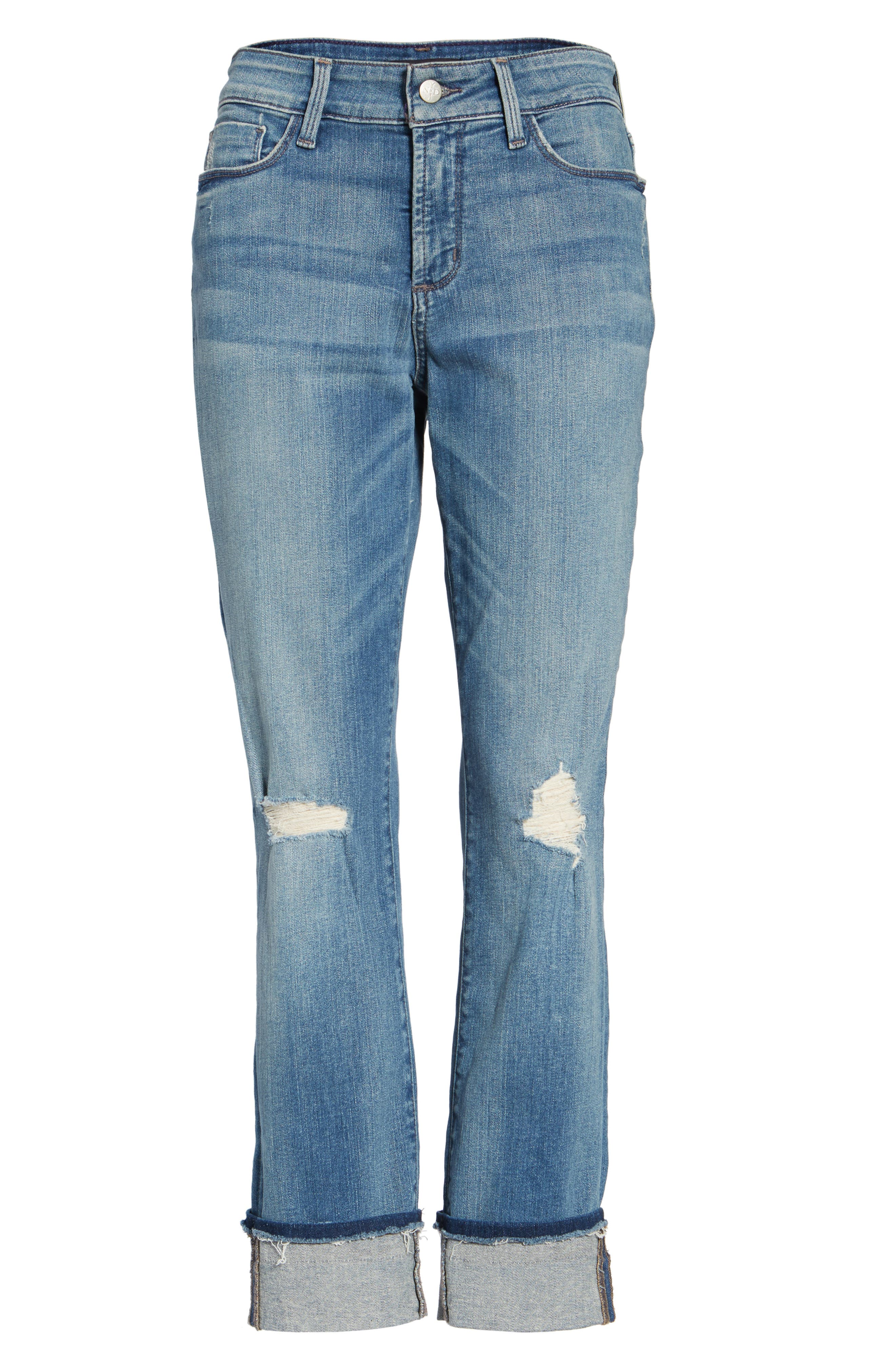 Jessica Distressed Fray Cuff Boyfriend Jeans,                             Alternate thumbnail 6, color,                             471