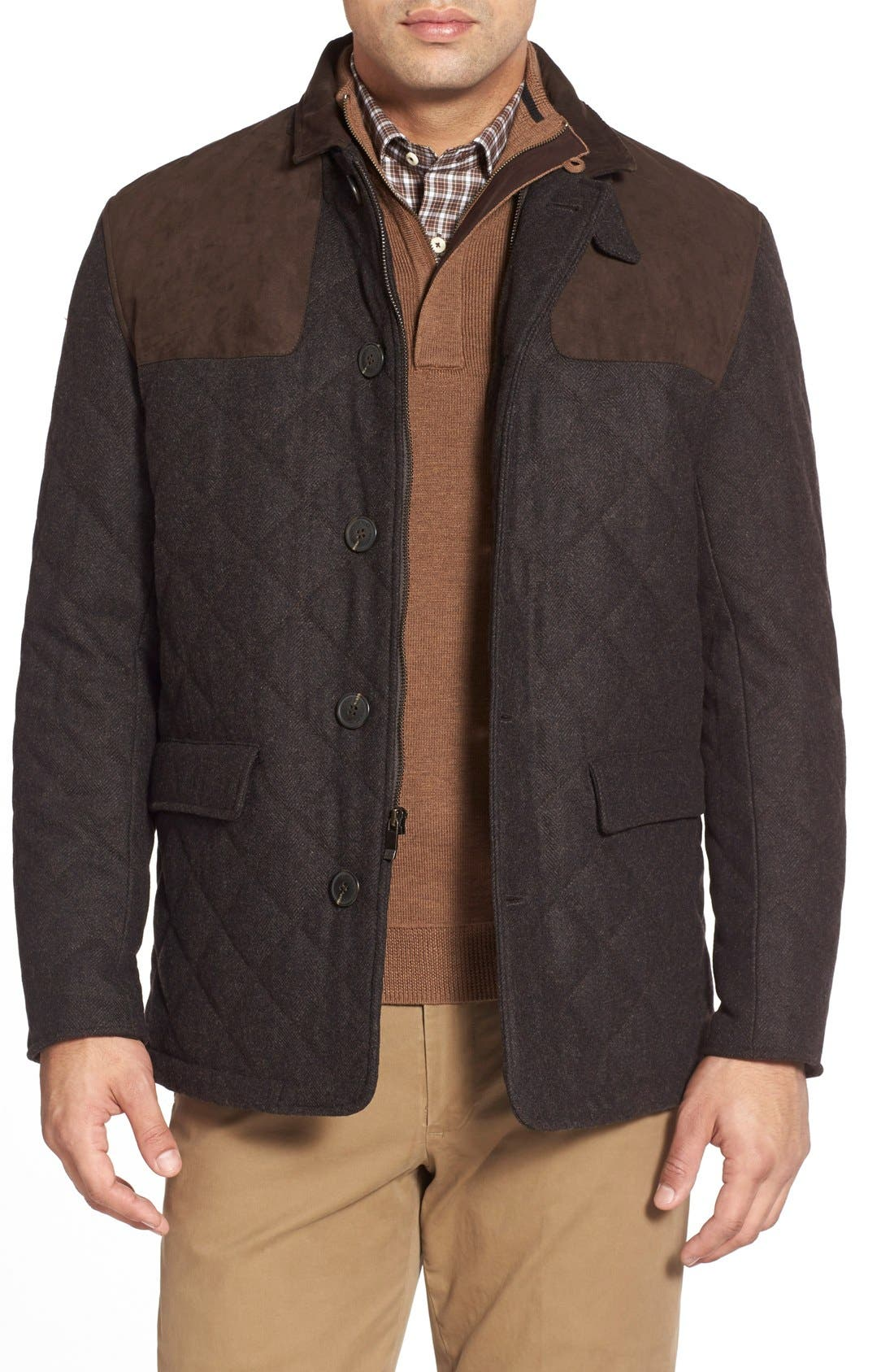 'Shooter' Wool Blend Quilted Jacket,                             Main thumbnail 2, color,